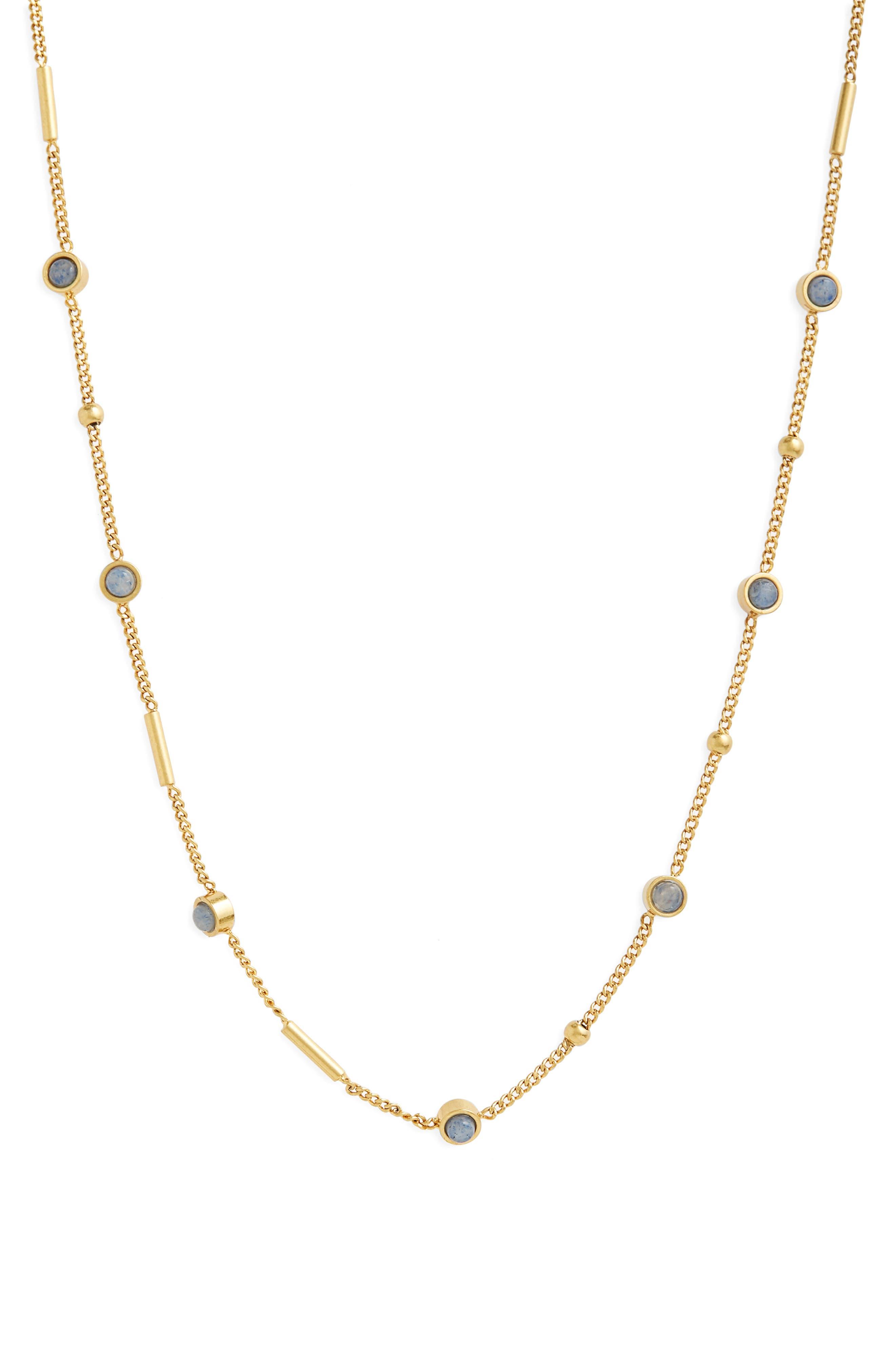Delicate Stone Necklace,                             Main thumbnail 1, color,                             400
