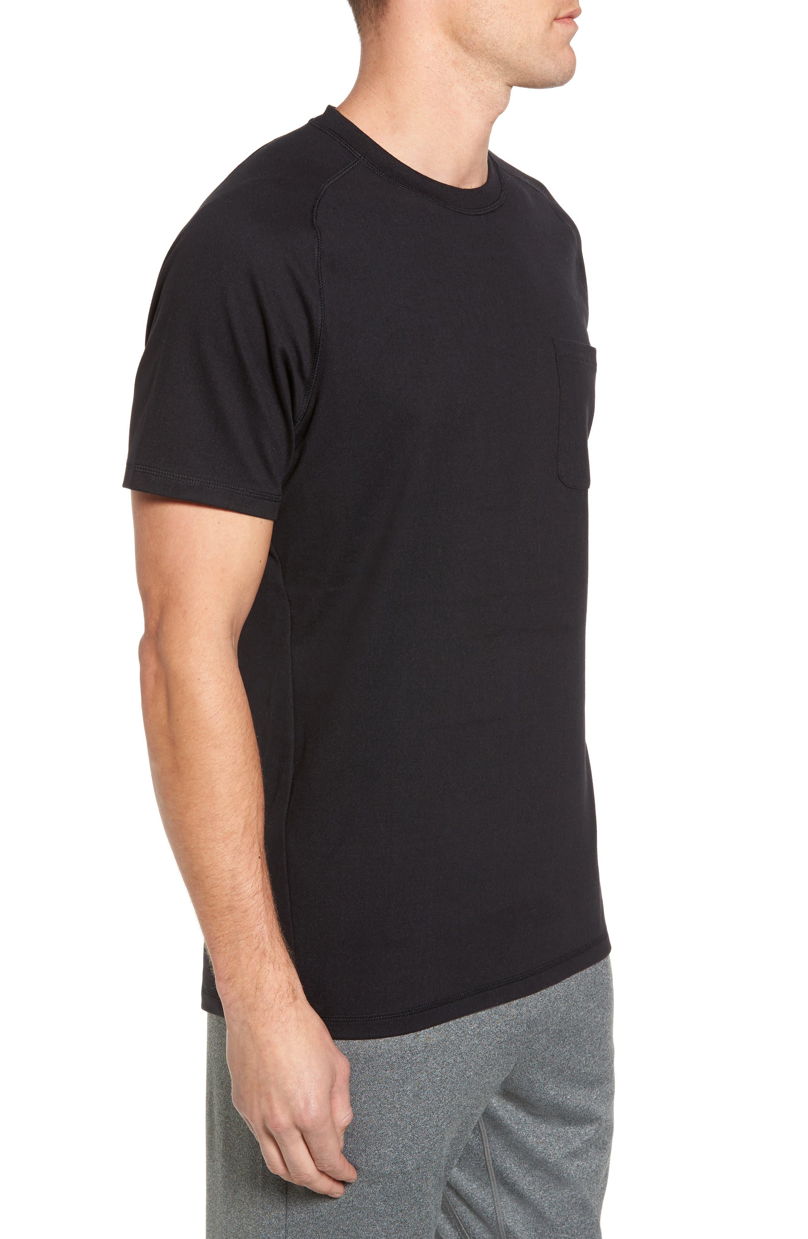 Longline Crewneck T-Shirt,                             Alternate thumbnail 3, color,                             001