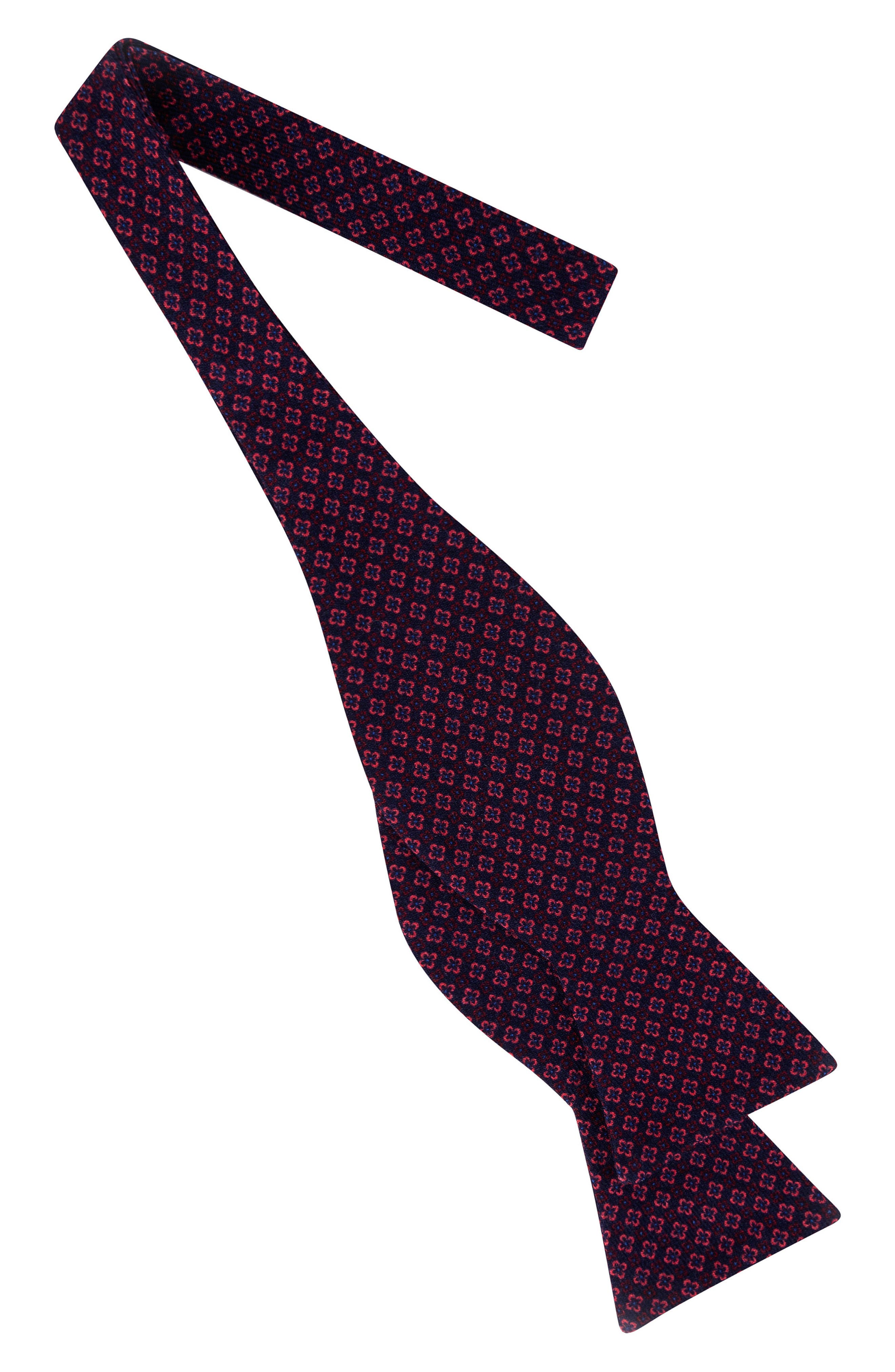 Dazzling Geometric Silk Bow Tie,                             Alternate thumbnail 4, color,