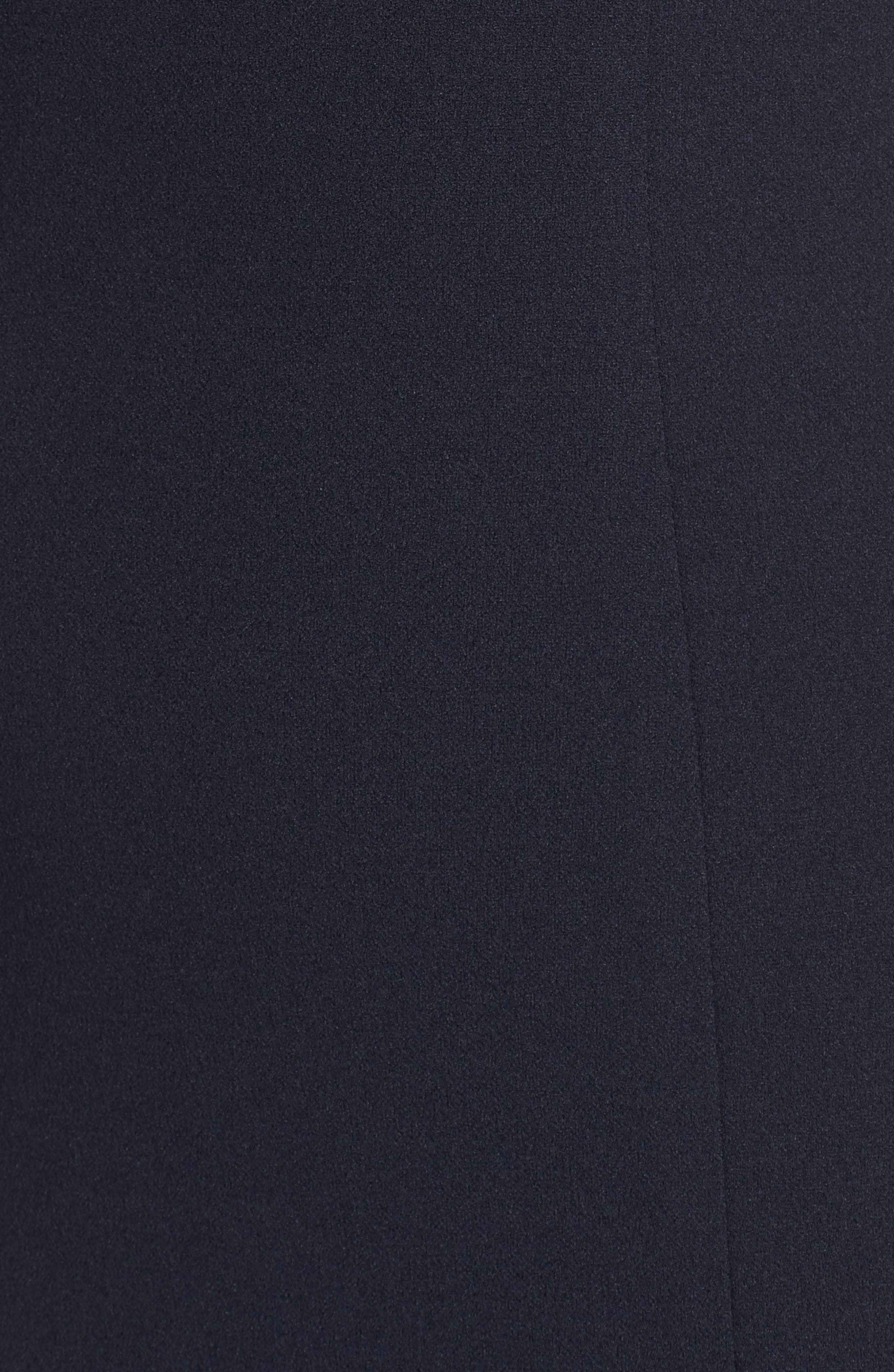 Luna Stretch Crepe Gown,                             Alternate thumbnail 5, color,                             NAVY