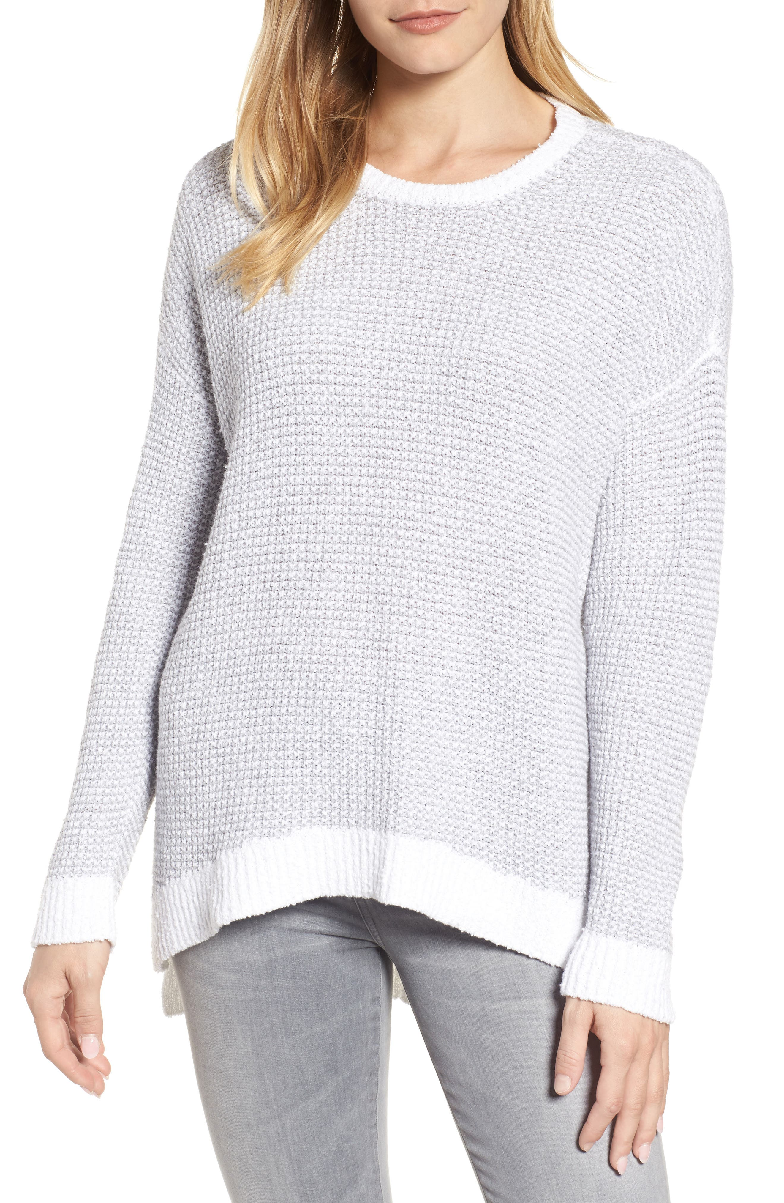 Waffled Organic Cotton Sweater,                         Main,                         color, 022