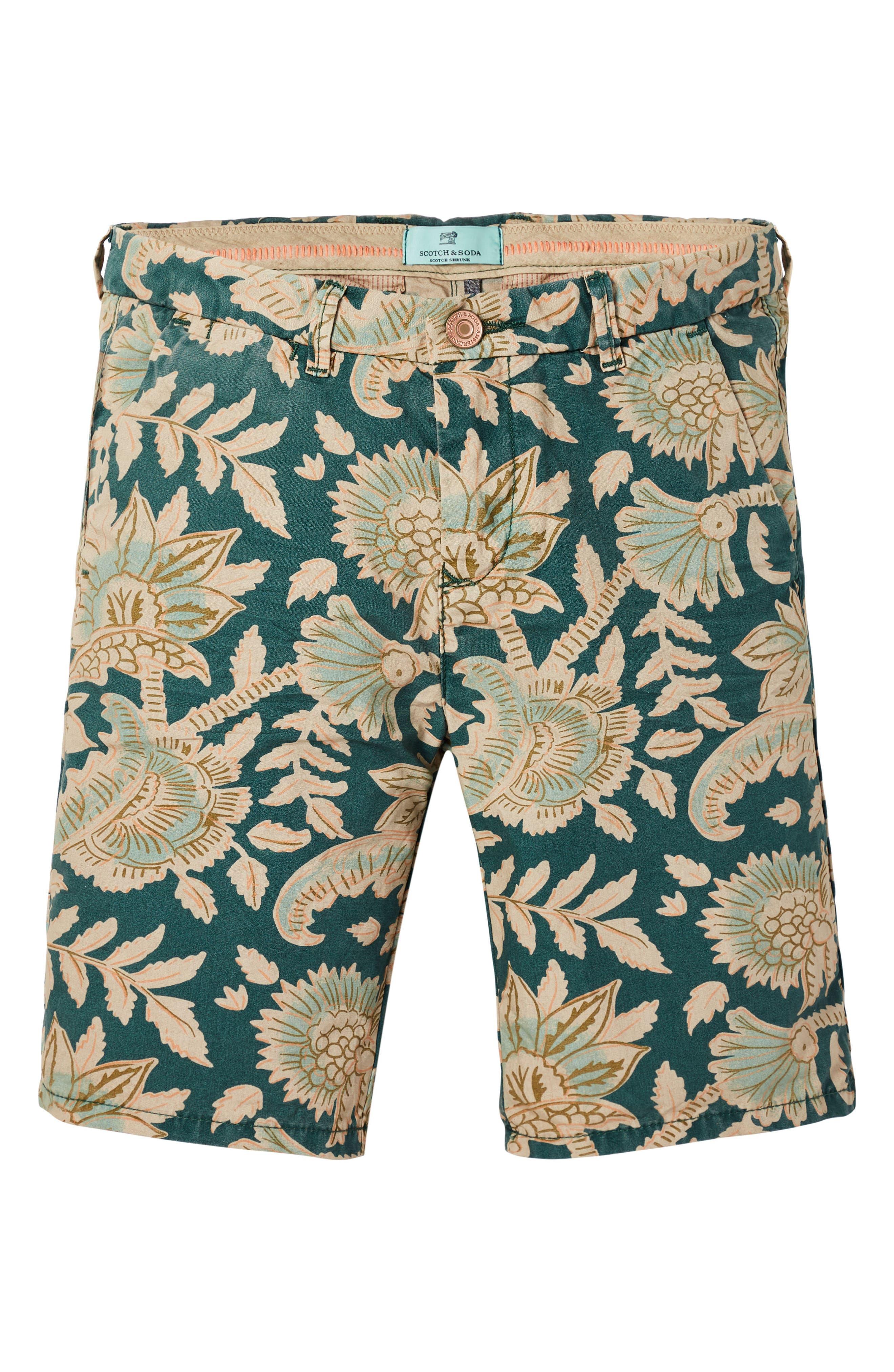 Print Chino Shorts,                             Main thumbnail 1, color,                             300