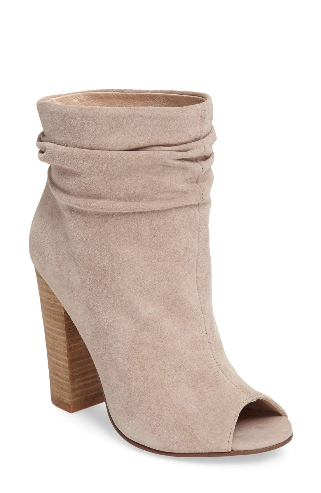 'Laurel' Peep Toe Bootie,                             Main thumbnail 2, color,