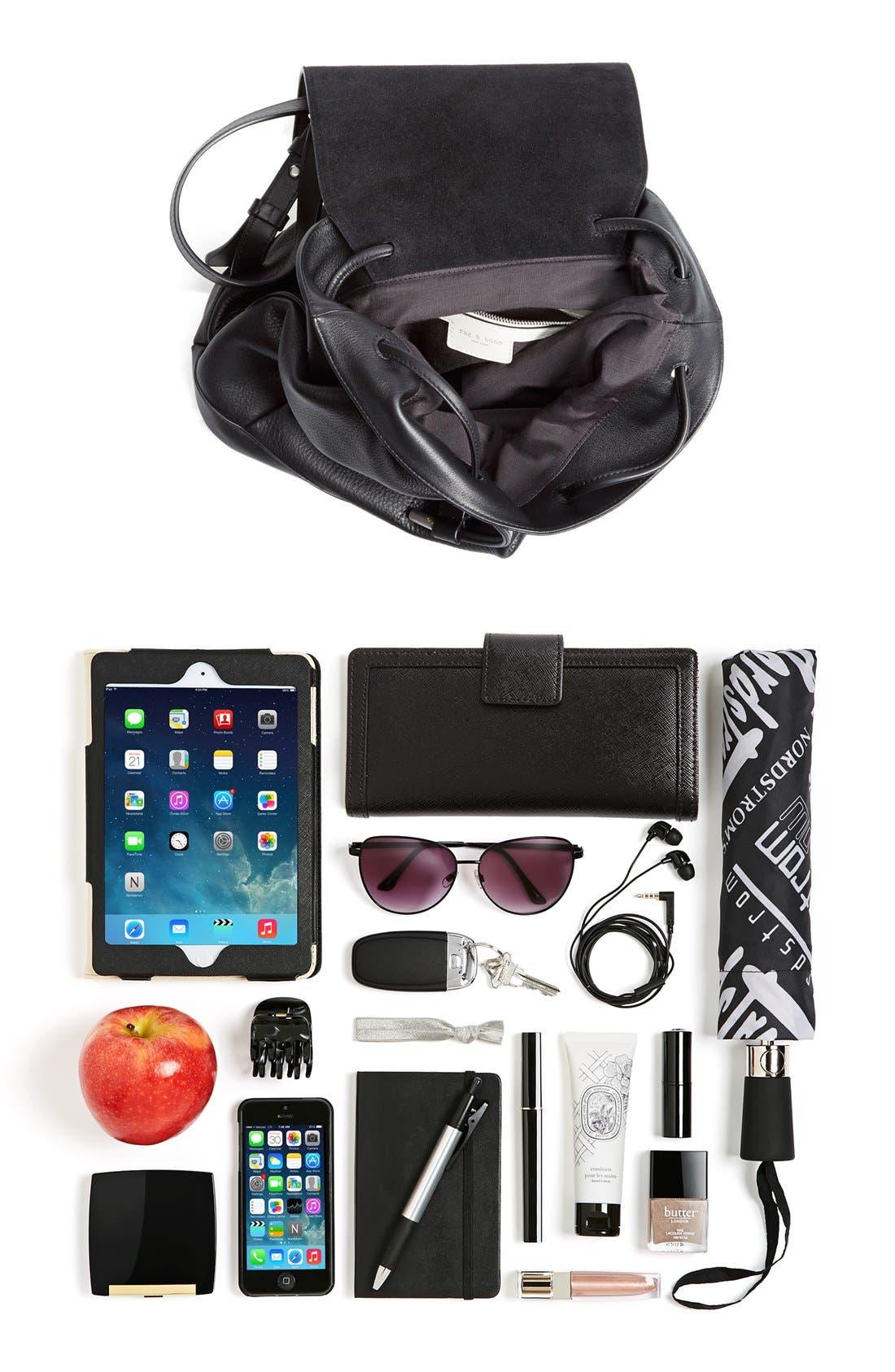 RAG & BONE,                             'Pilot' Leather Backpack,                             Alternate thumbnail 6, color,                             001