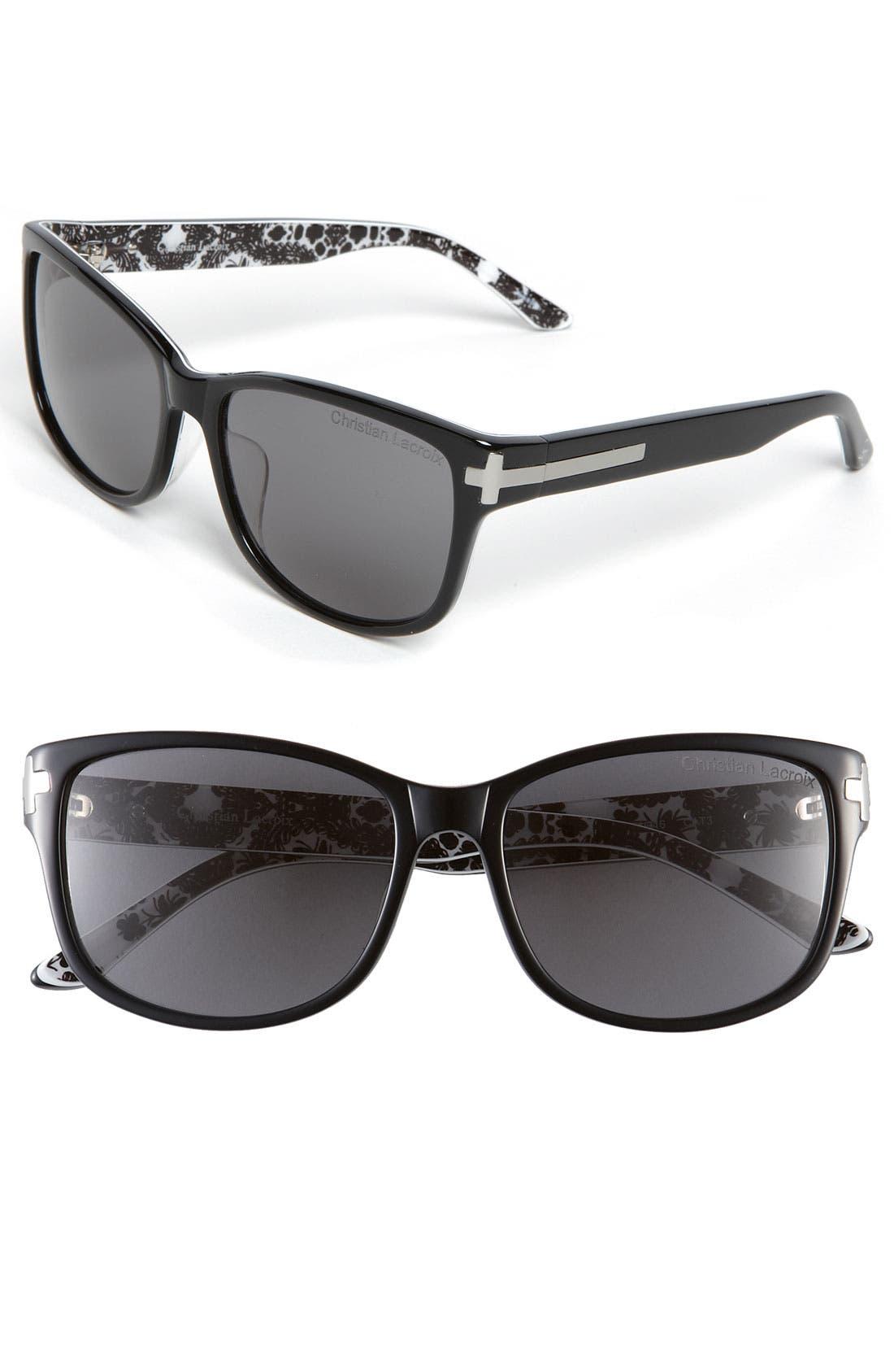 CHRISTIAN LACROIX,                             Sunglasses,                             Main thumbnail 1, color,                             001