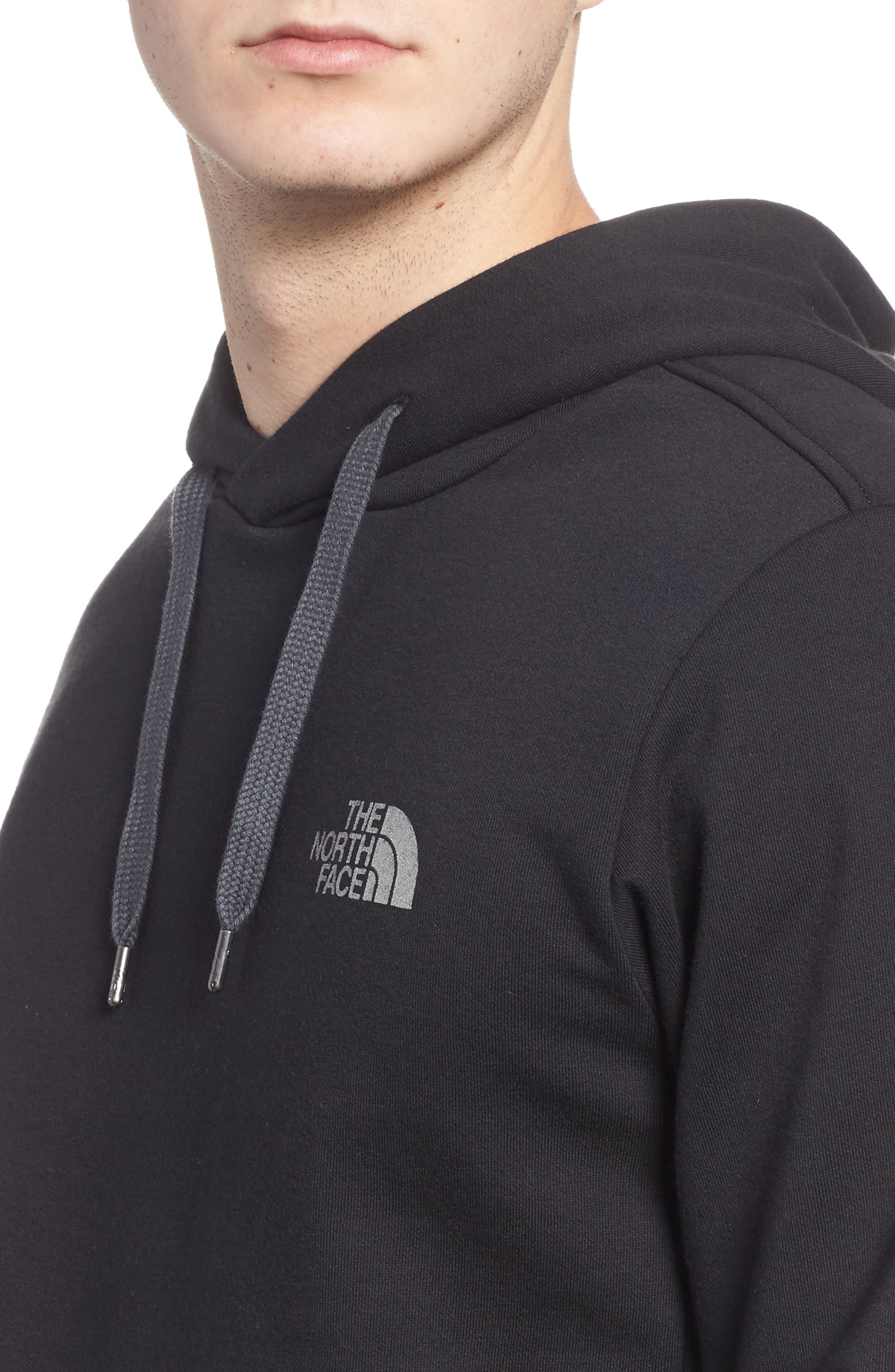 Trivert Cotton Blend Hoodie,                             Alternate thumbnail 4, color,                             001
