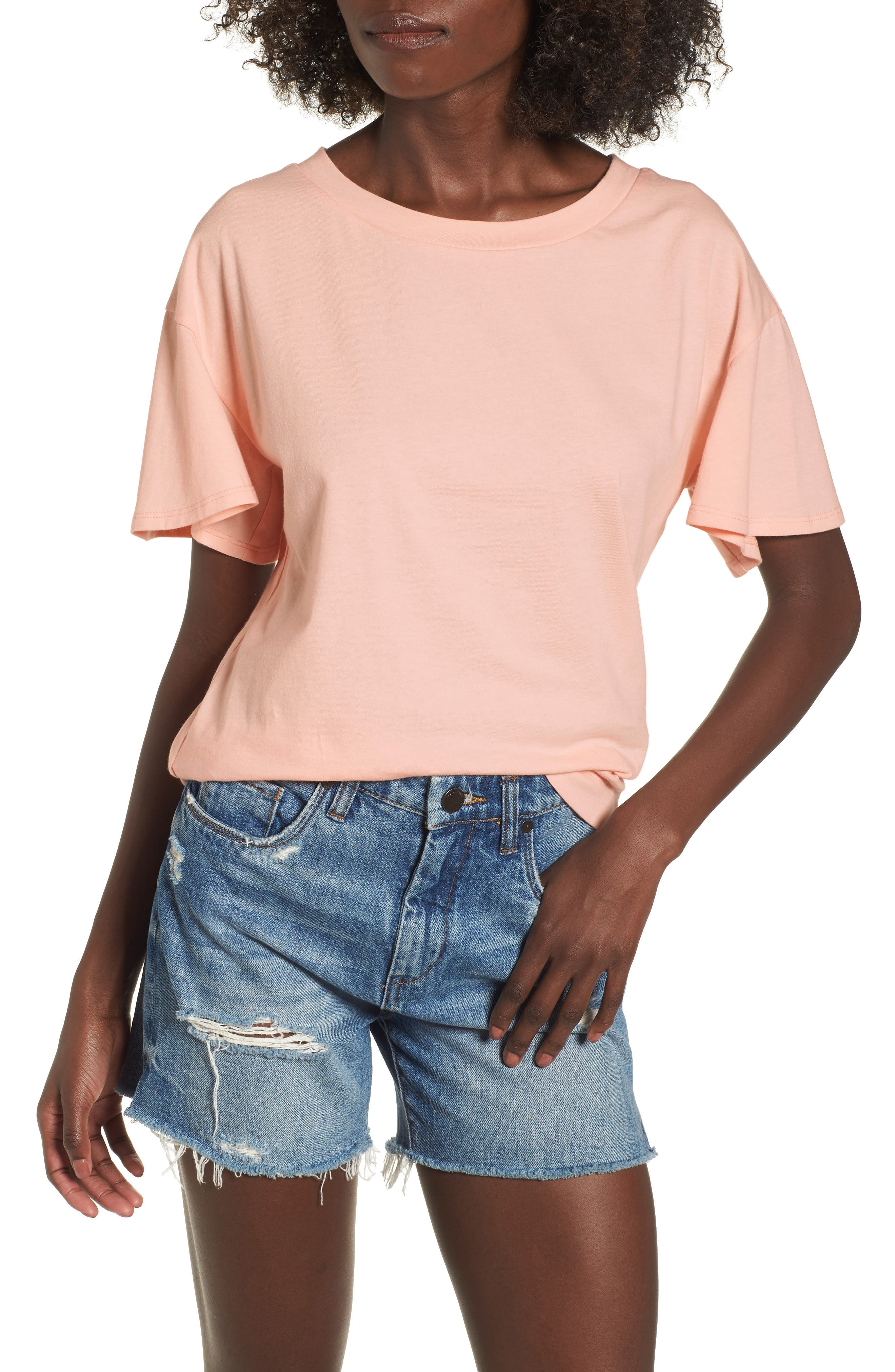 Flutter Sleeve Tee,                             Main thumbnail 3, color,