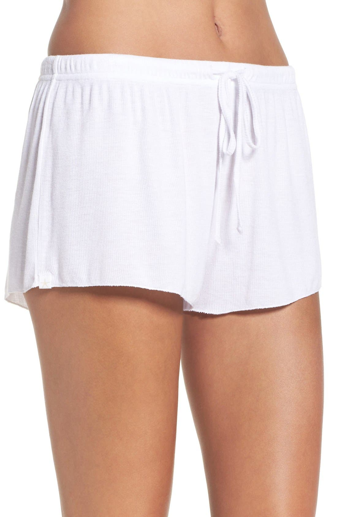 BAREFOOT DREAMS<SUP>®</SUP>,                             Luxe Lounge Shorts,                             Alternate thumbnail 3, color,                             100