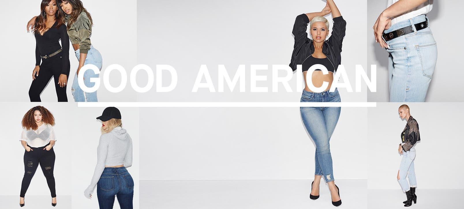 Good American women's denim, bodysuits and more.