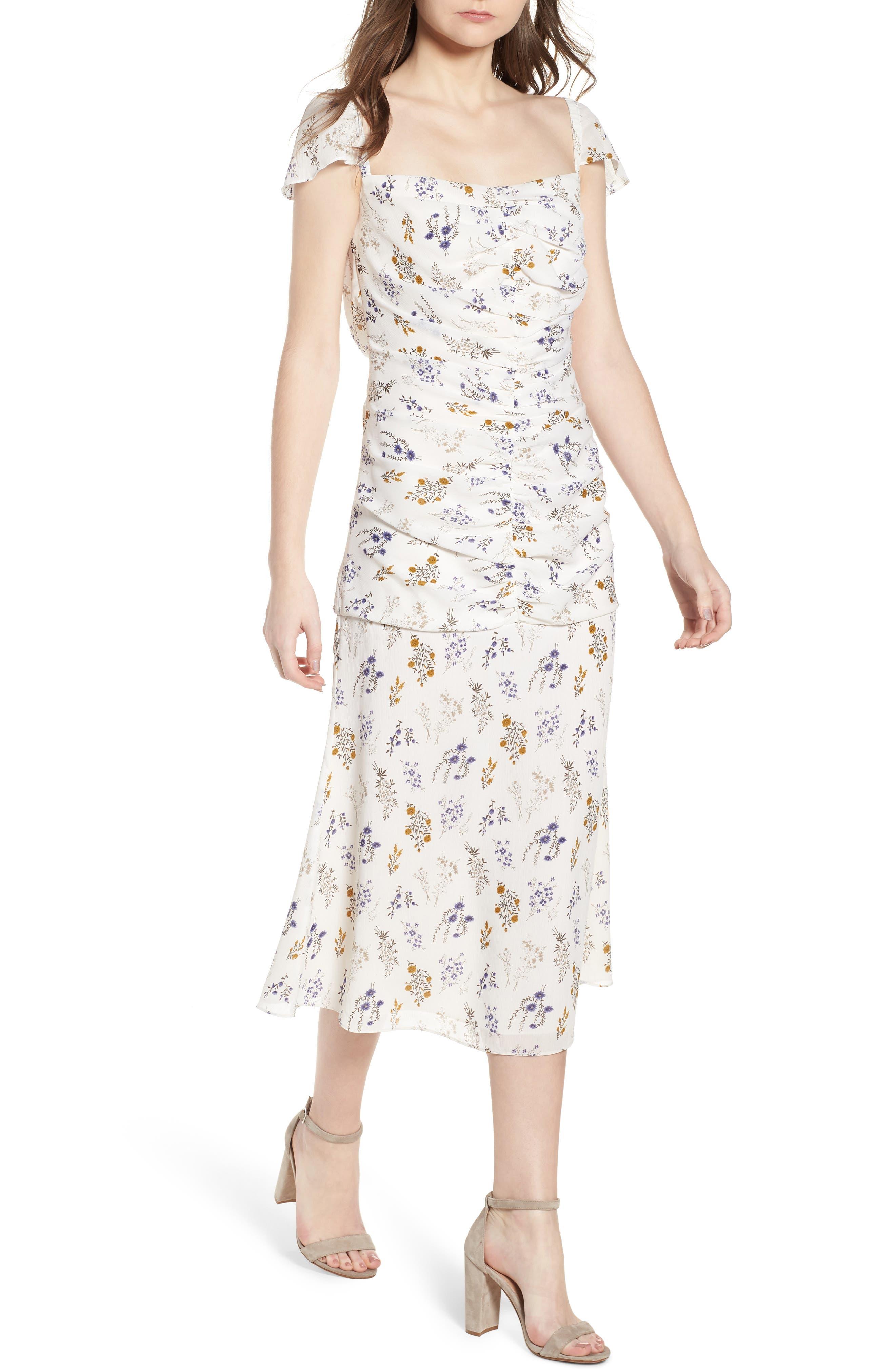 Bailey Midi Dress,                             Main thumbnail 1, color,                             100