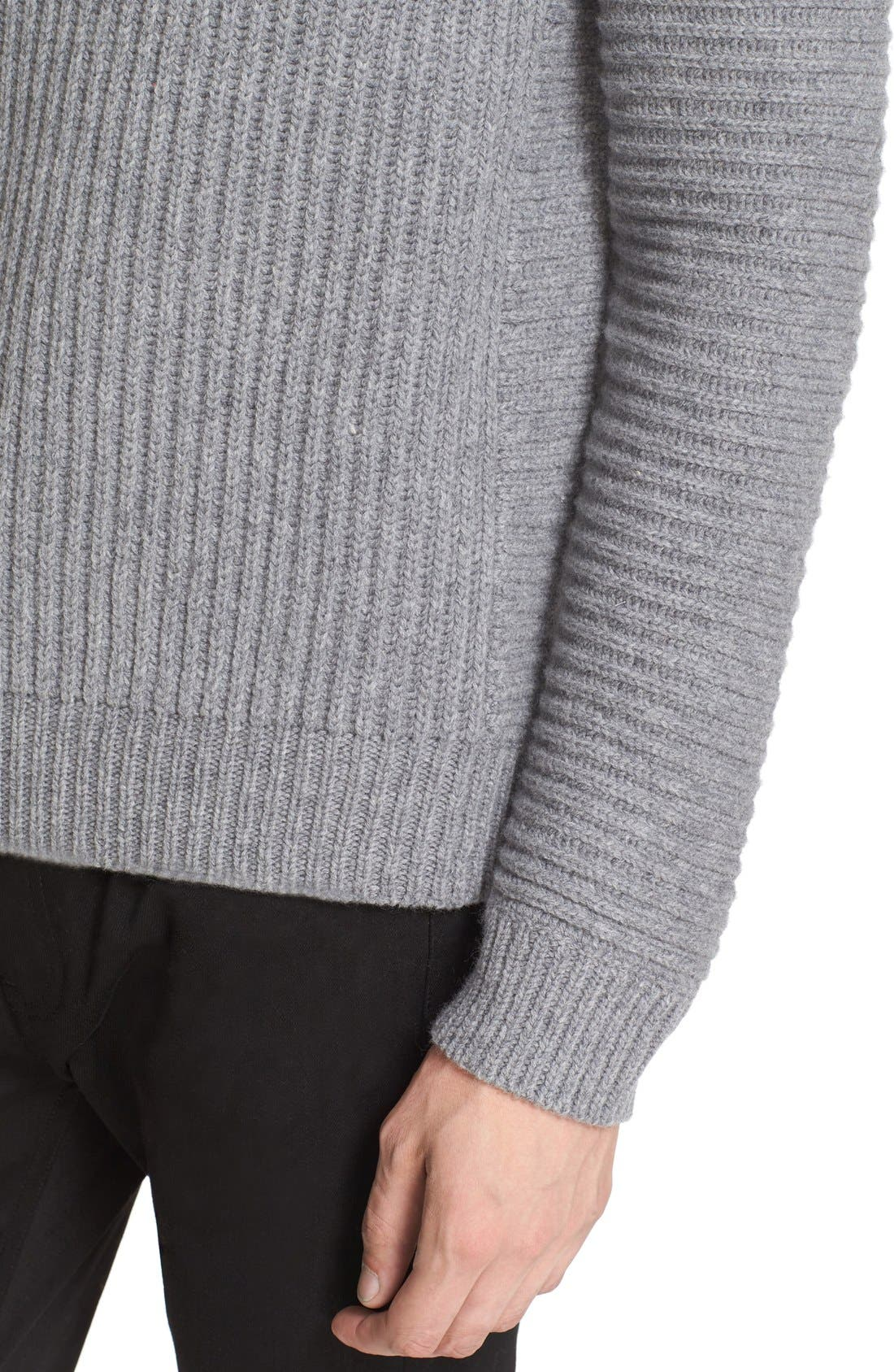ACNE STUDIOS,                             Kalle Ribbed Turtleneck Sweater,                             Alternate thumbnail 5, color,                             020