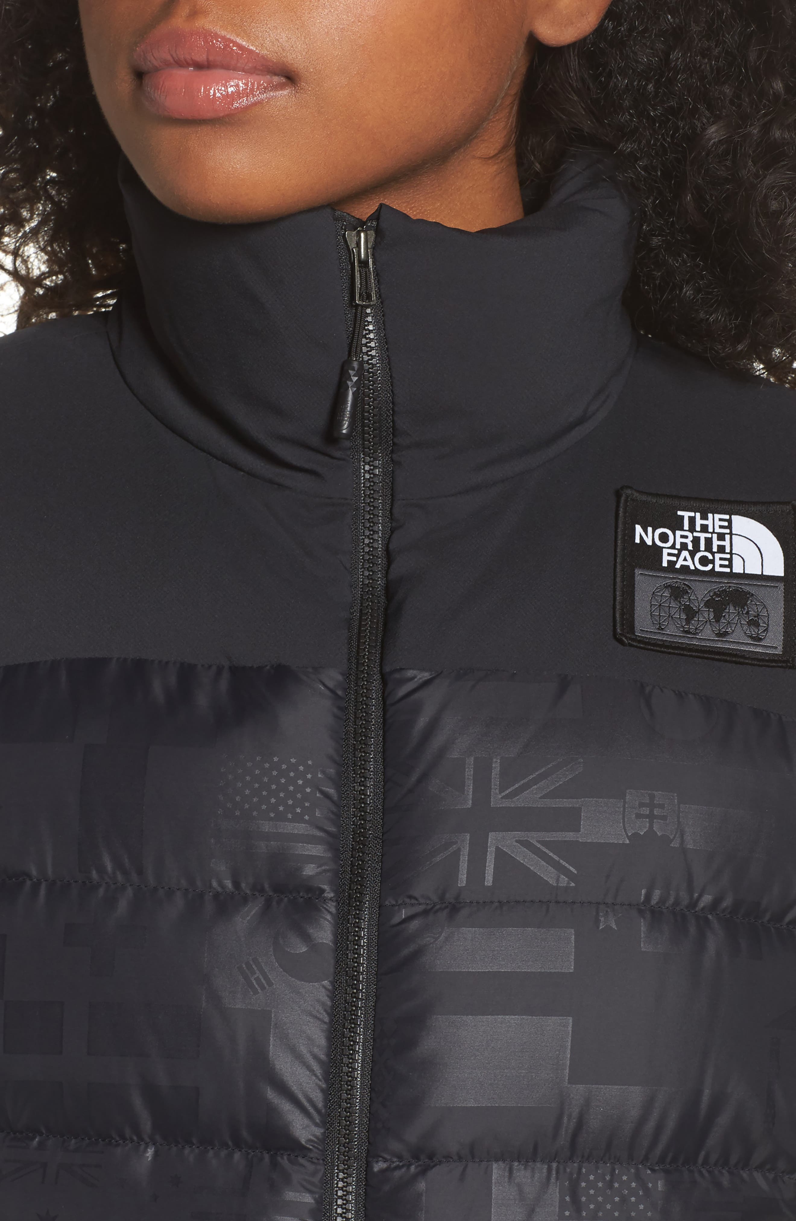 International Collection Nuptse 700-Fill Power Down Puffer Vest,                             Alternate thumbnail 4, color,                             001