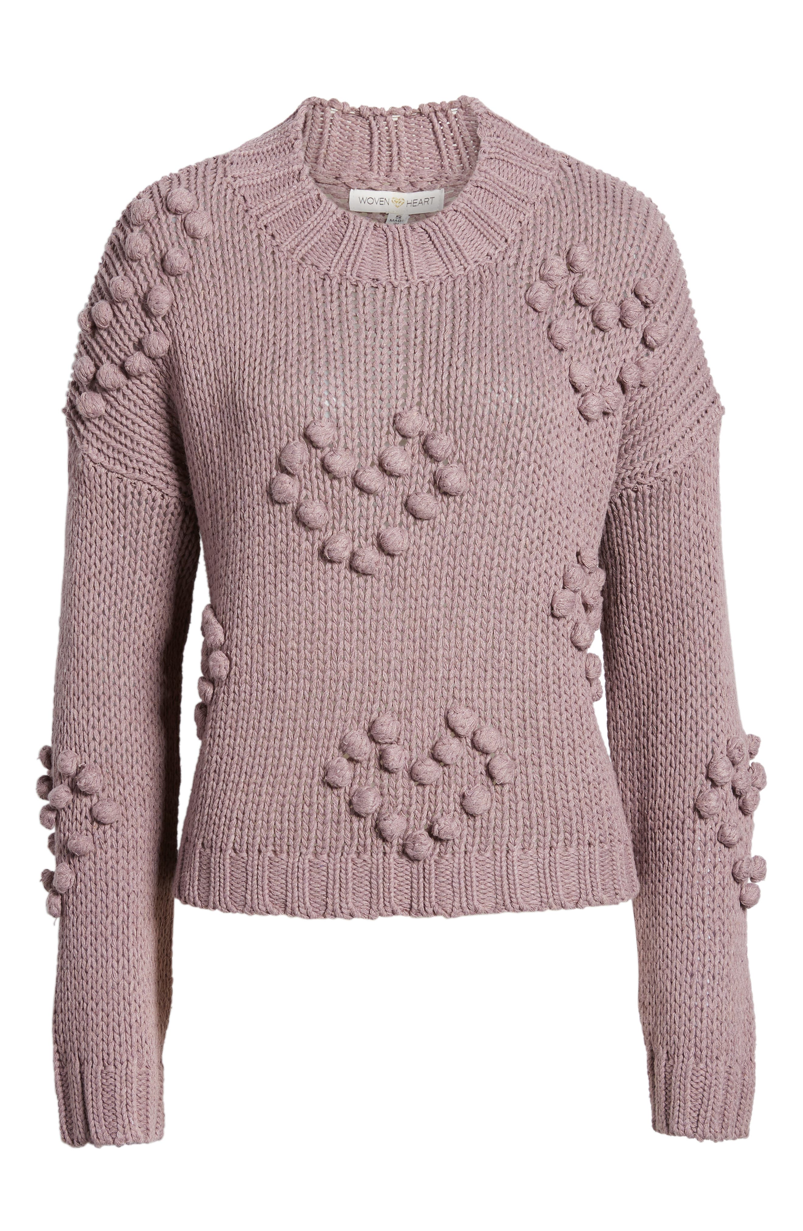 Placement Knot Knit Sweater,                             Alternate thumbnail 6, color,                             300