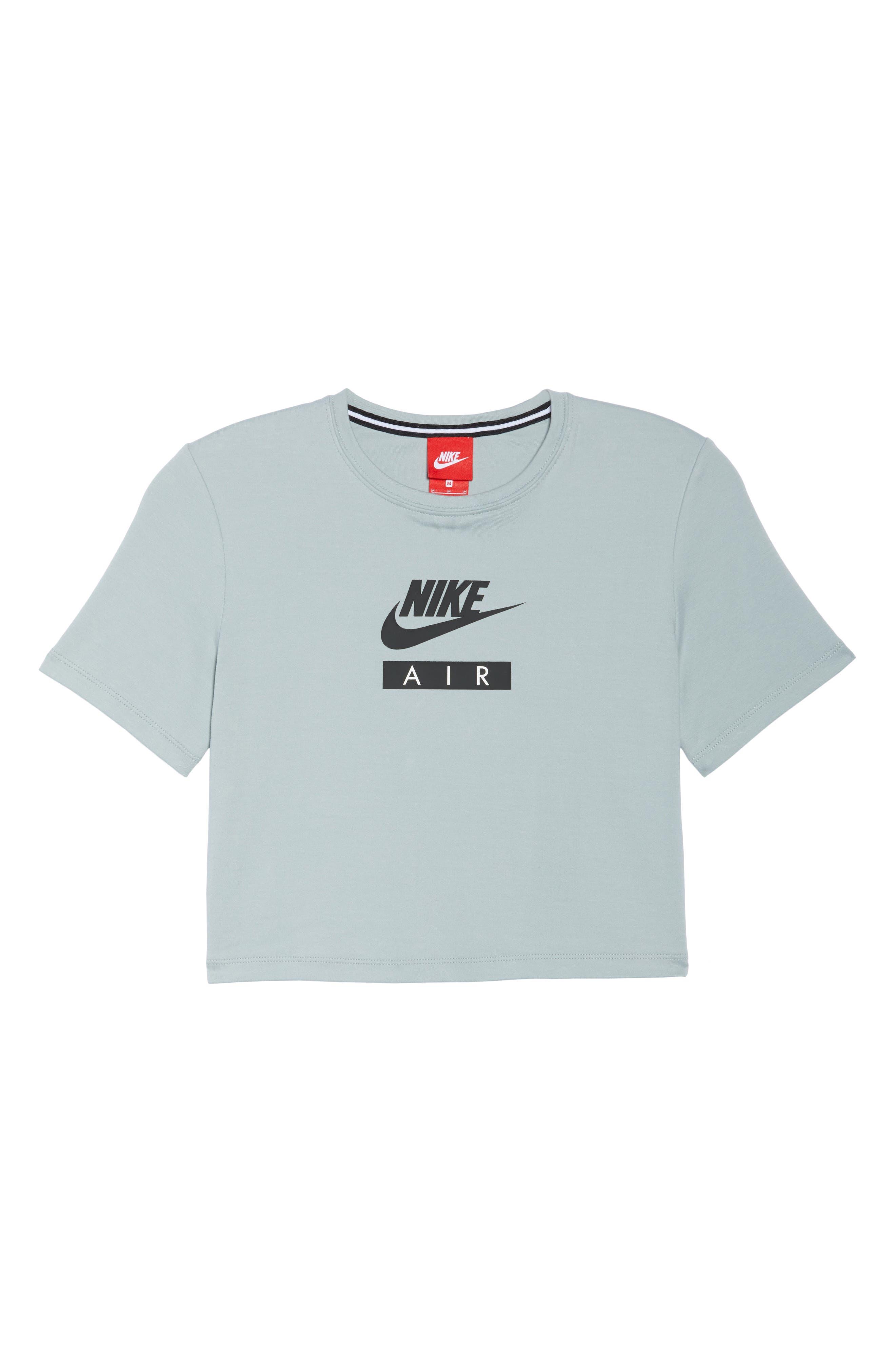 Sportswear Baby Air Crop Tee,                             Main thumbnail 1, color,                             LIGHT PUMICE/ BLACK