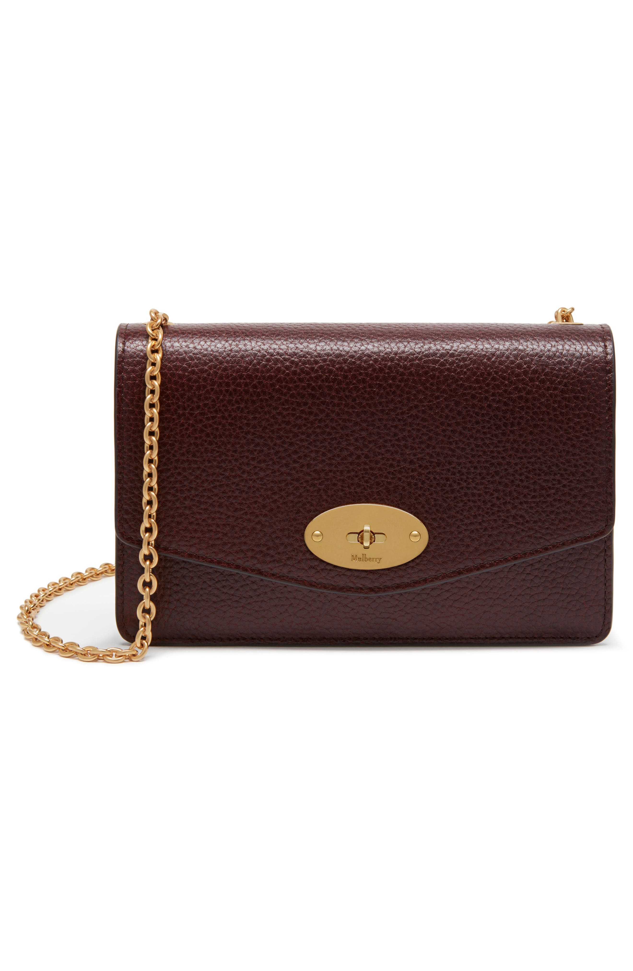 Small Darley Leather Clutch,                             Alternate thumbnail 4, color,