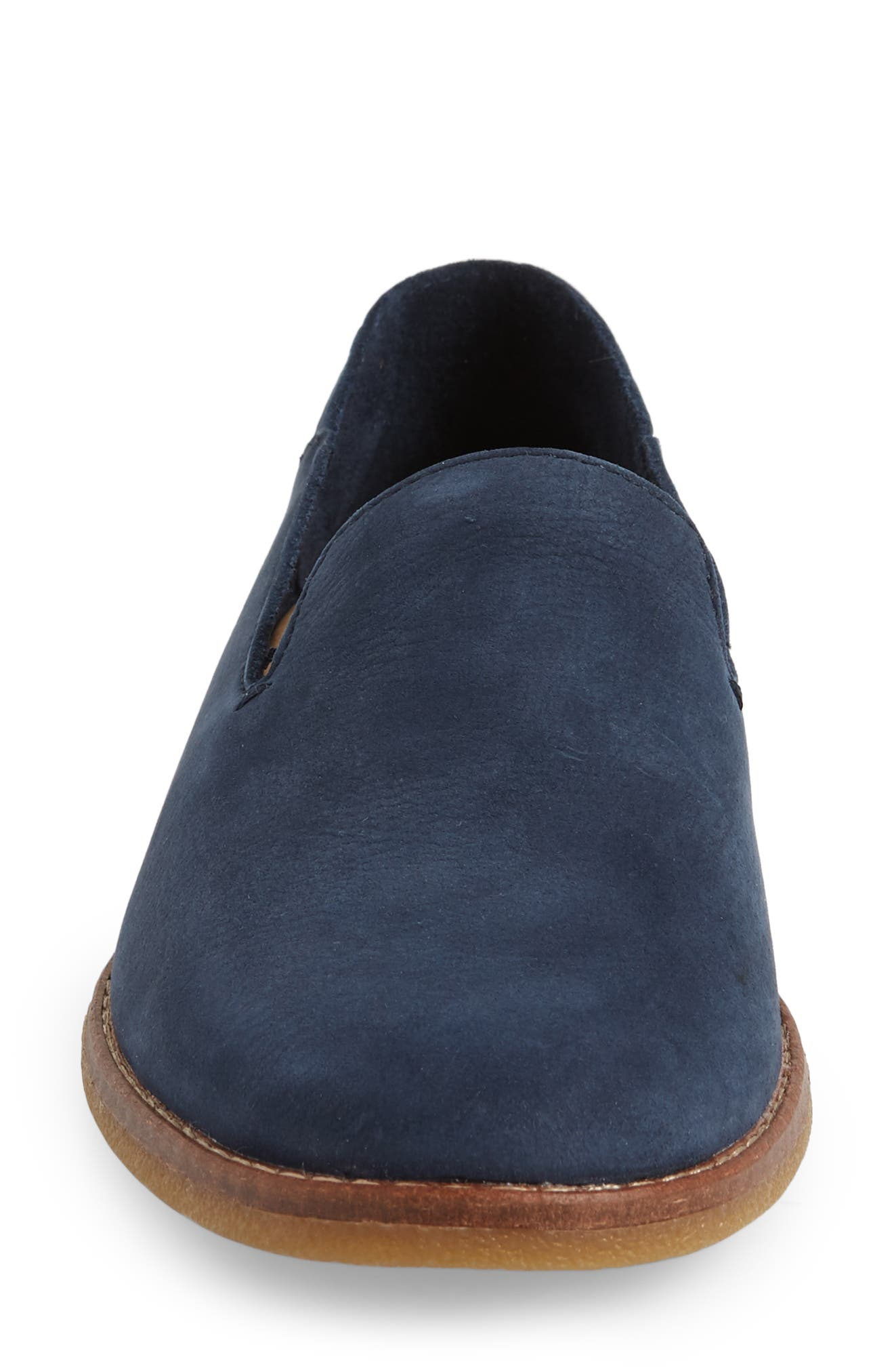 Seaport Levy Flat,                             Alternate thumbnail 4, color,                             NAVY LEATHER