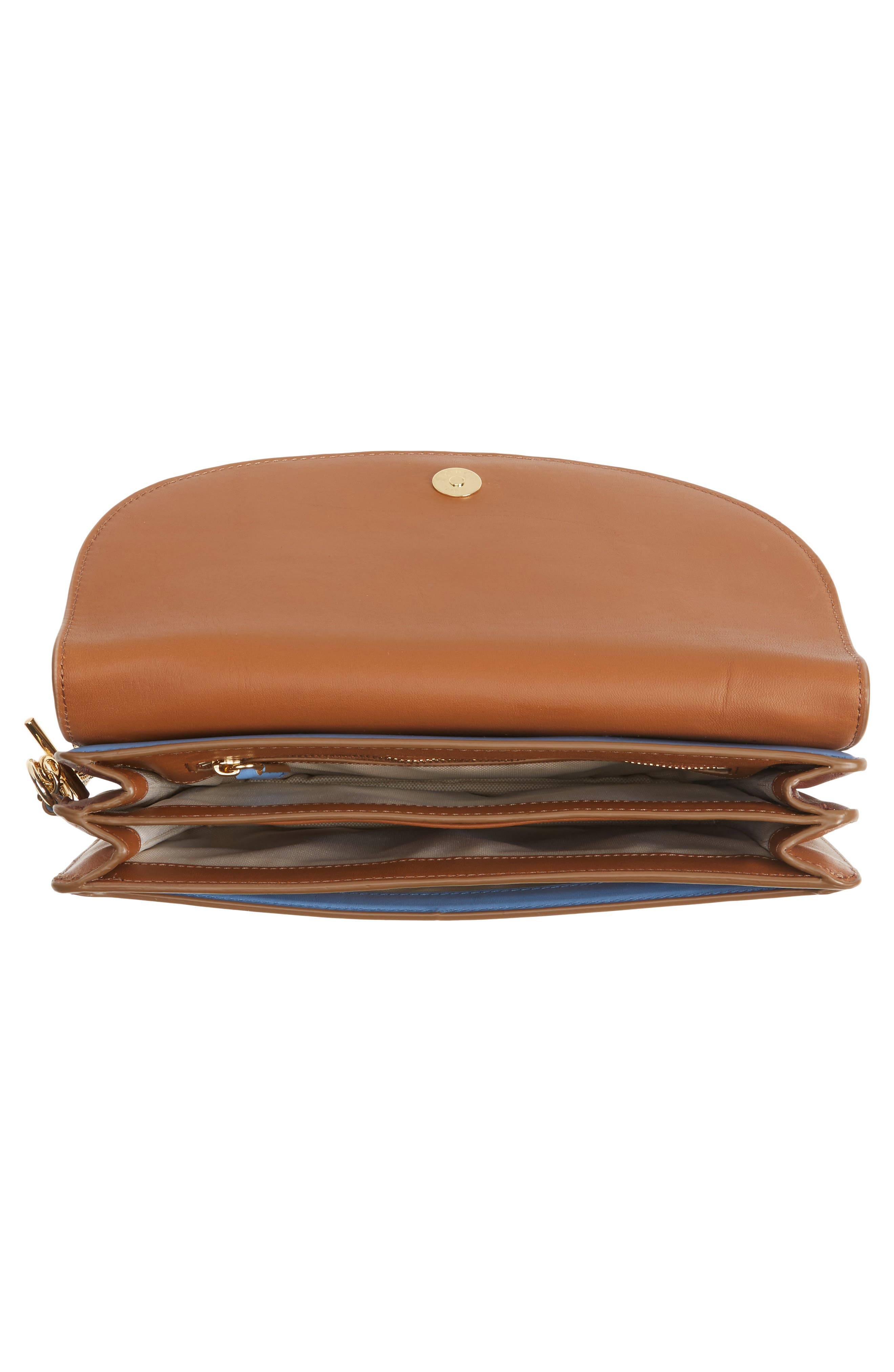 Convertible Leather & Genuine Calf Hair Saddle Clutch,                             Alternate thumbnail 4, color,                             200