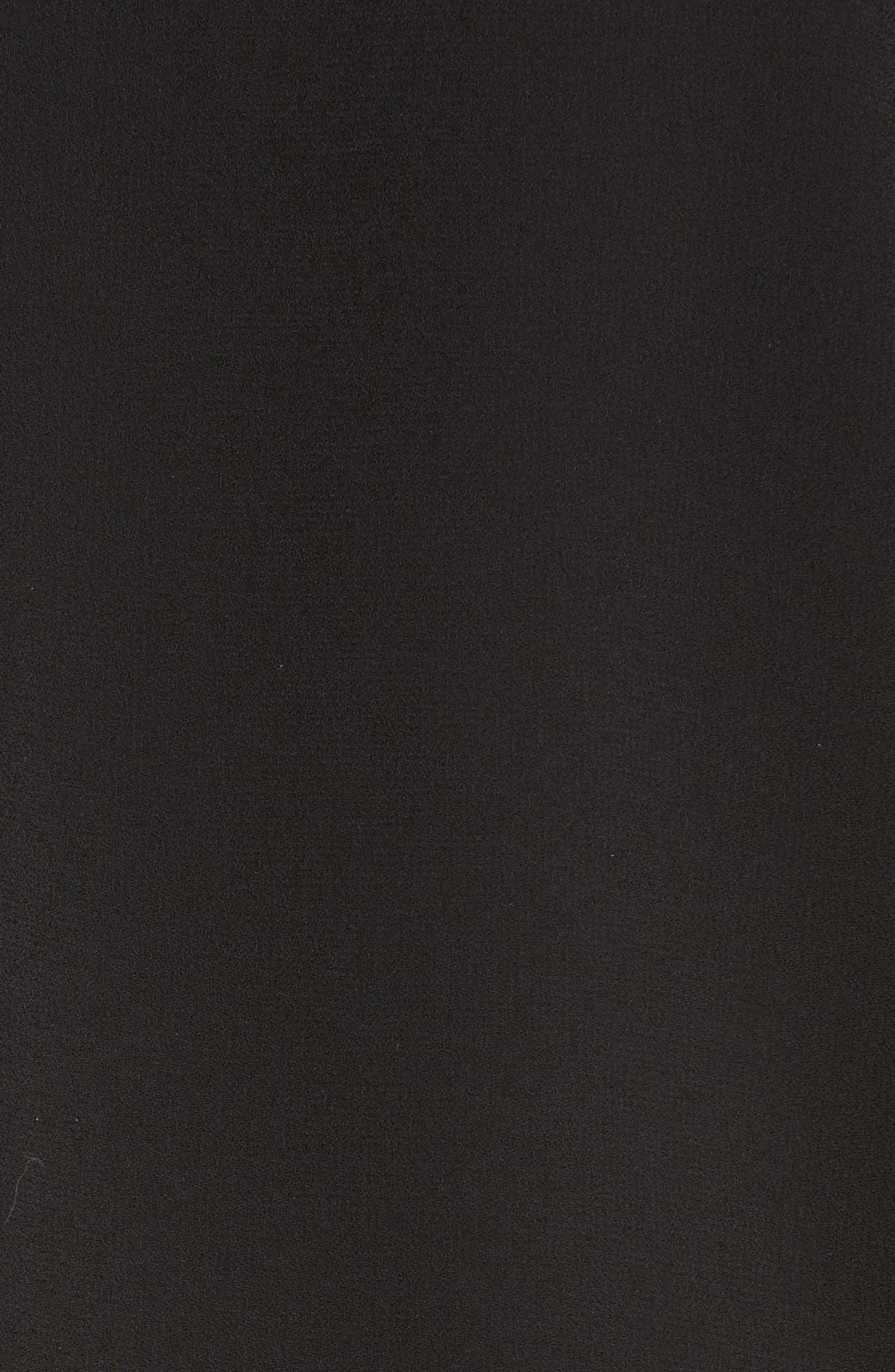 Satin Back Crepe Jumpsuit,                             Alternate thumbnail 5, color,                             001