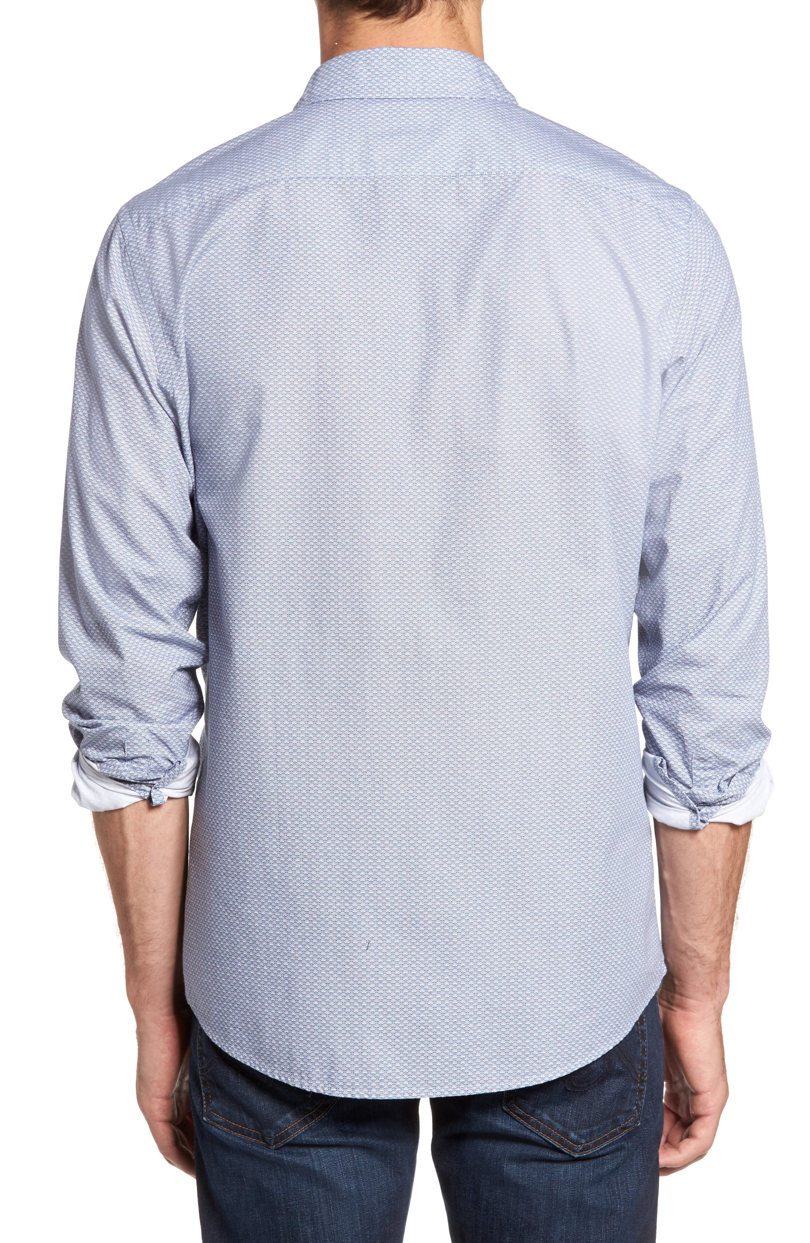 Macauley Sports Fit Print Sport Shirt,                             Alternate thumbnail 2, color,