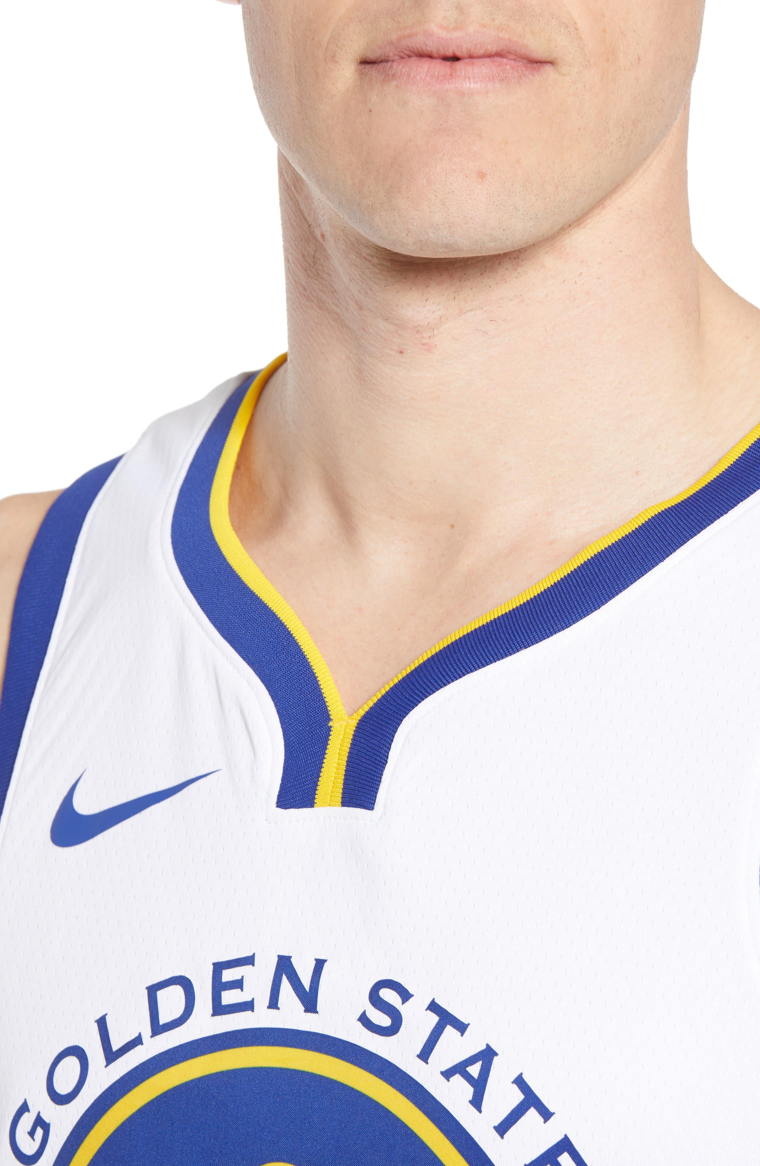 Golden State Warriors - Stephen Curry Association Edition Swingman Jersey,                             Alternate thumbnail 4, color,                             WHITE/ AMARILLO/ RUSH BLUE