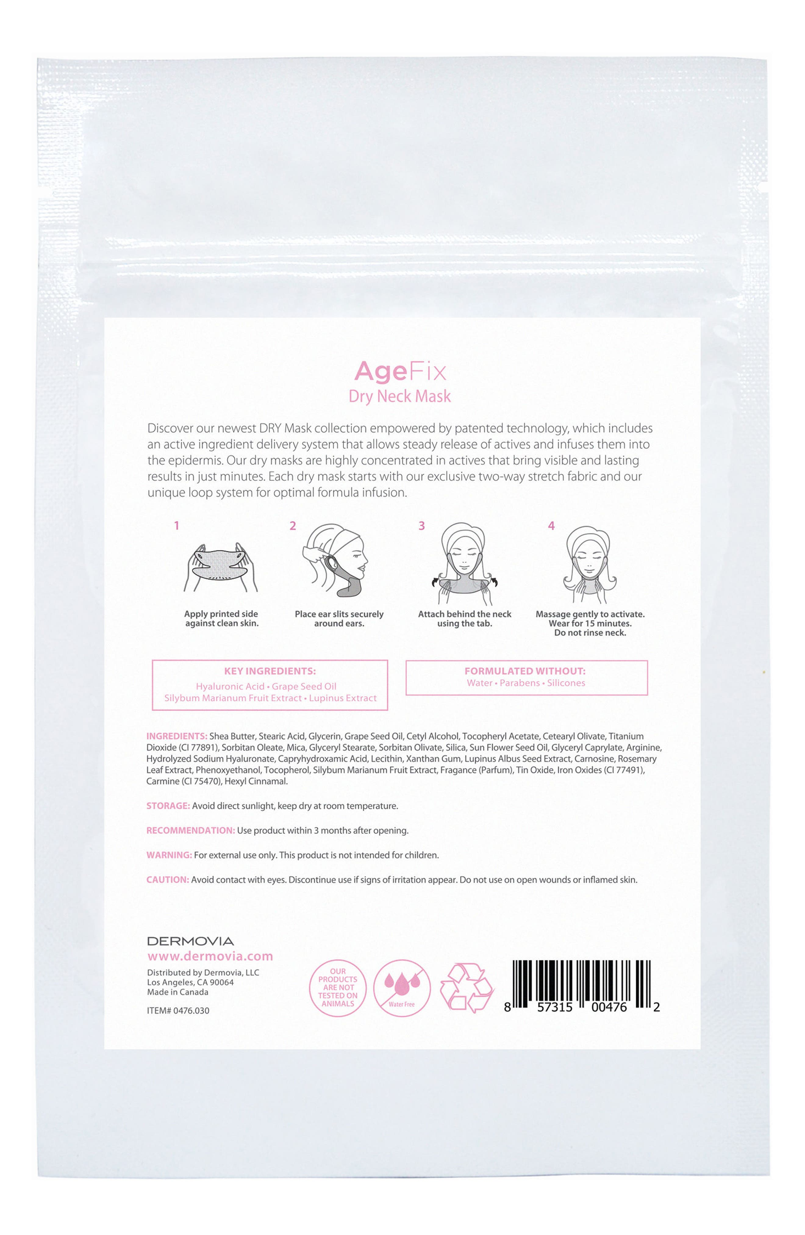 DRY Mask AgeFix Waterless Neck Mask,                             Alternate thumbnail 2, color,                             NO COLOR