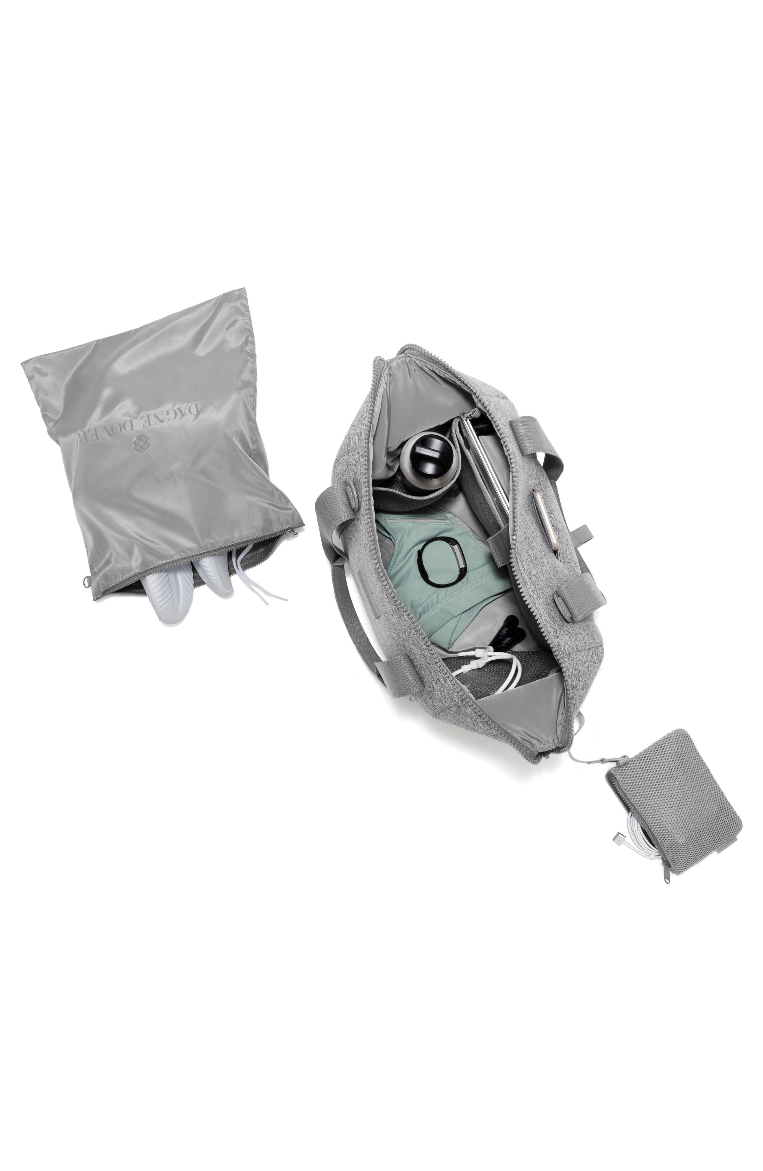 365 Medium Landon Neoprene Carryall Duffel Bag,                             Alternate thumbnail 2, color,                             HEATHER GREY