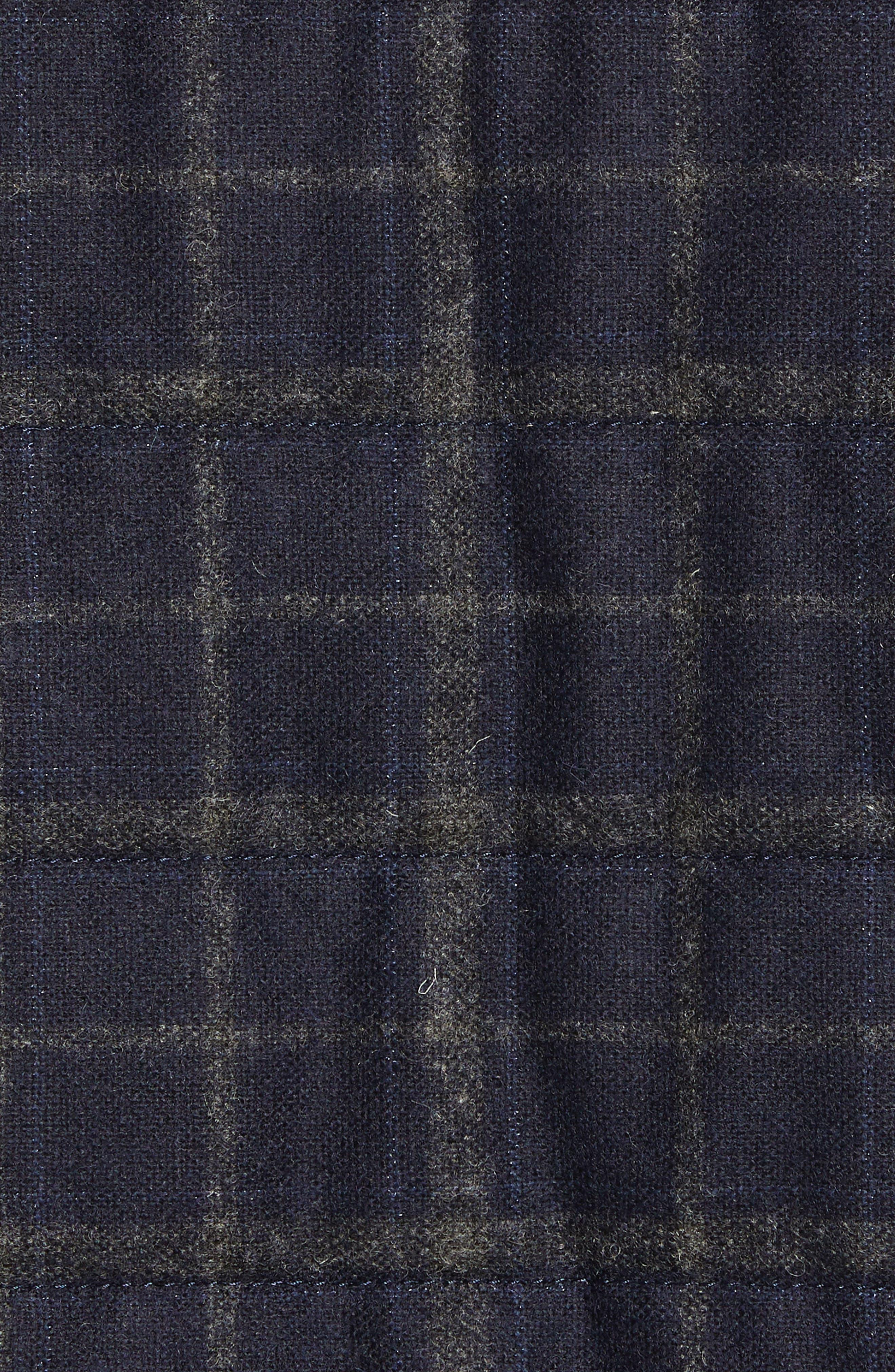 McClement Leather Trim Wool Blend Vest,                             Alternate thumbnail 7, color,                             BLUE