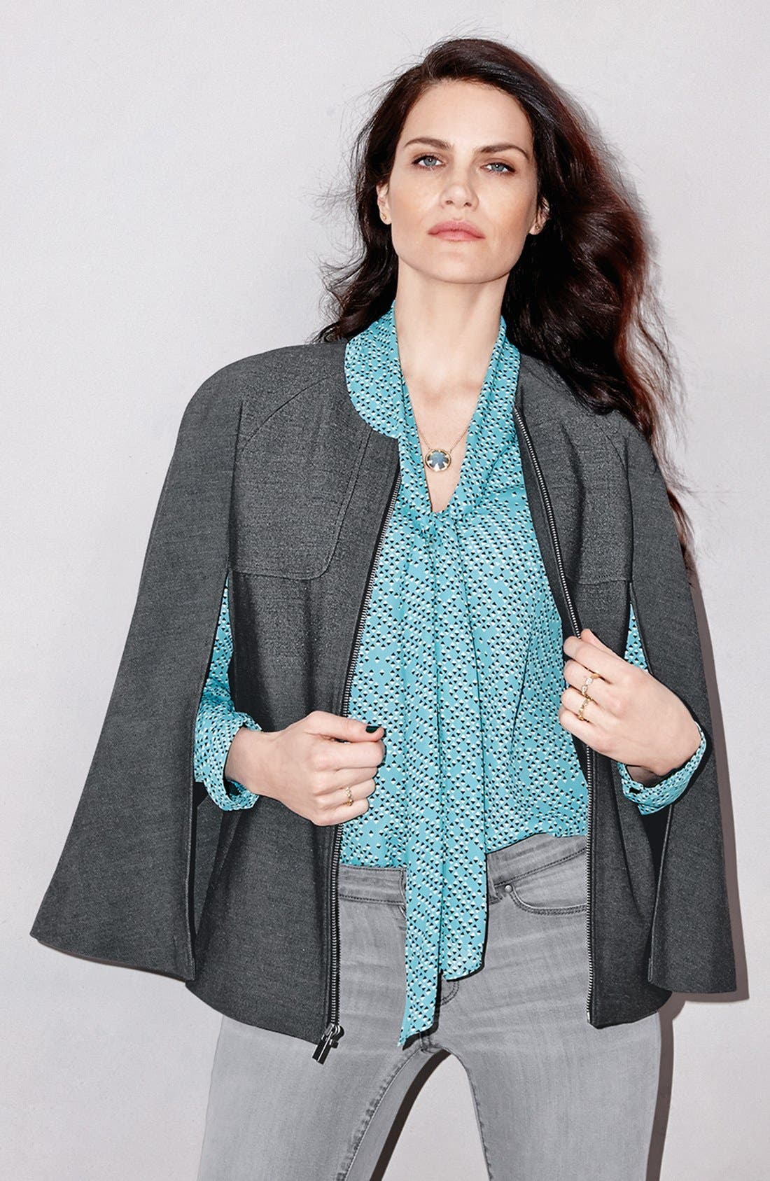 Scarf Tie Blouse,                             Alternate thumbnail 5, color,                             001