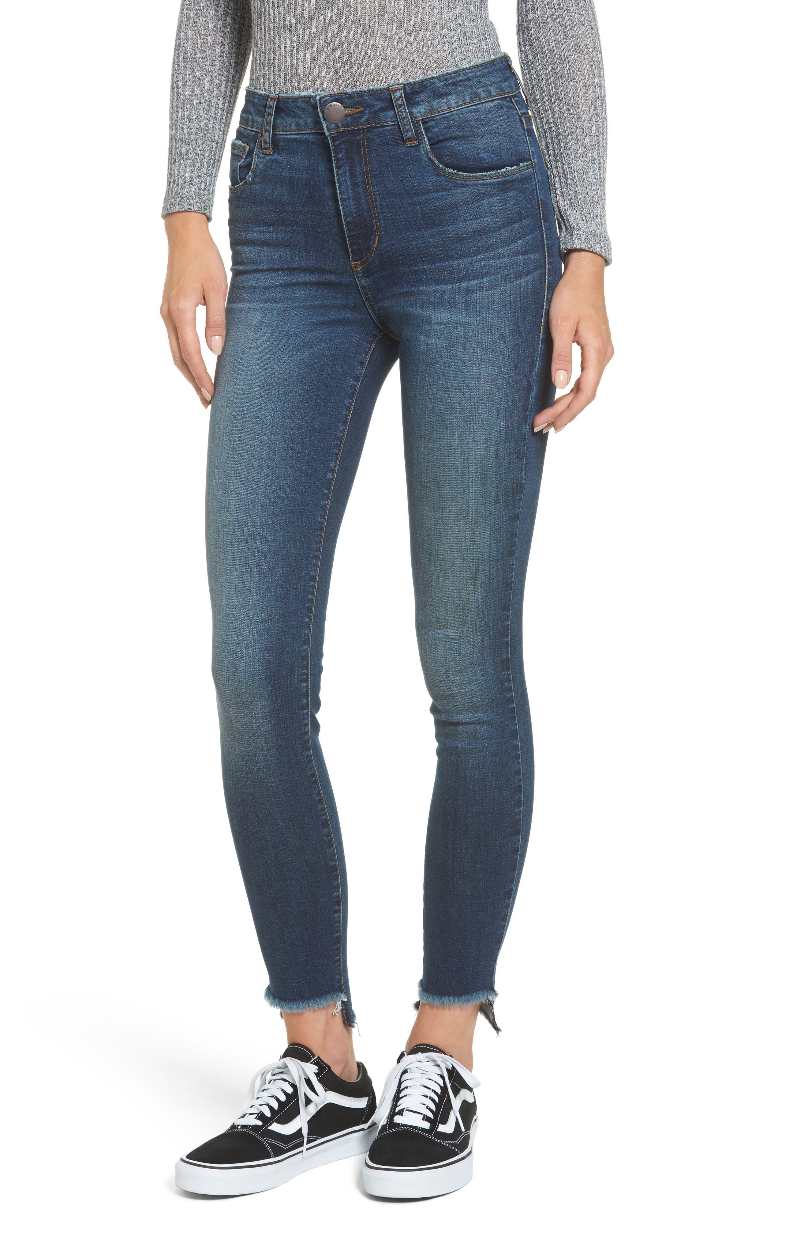 Ellie Step Hem Skinny Jeans,                             Main thumbnail 1, color,                             400