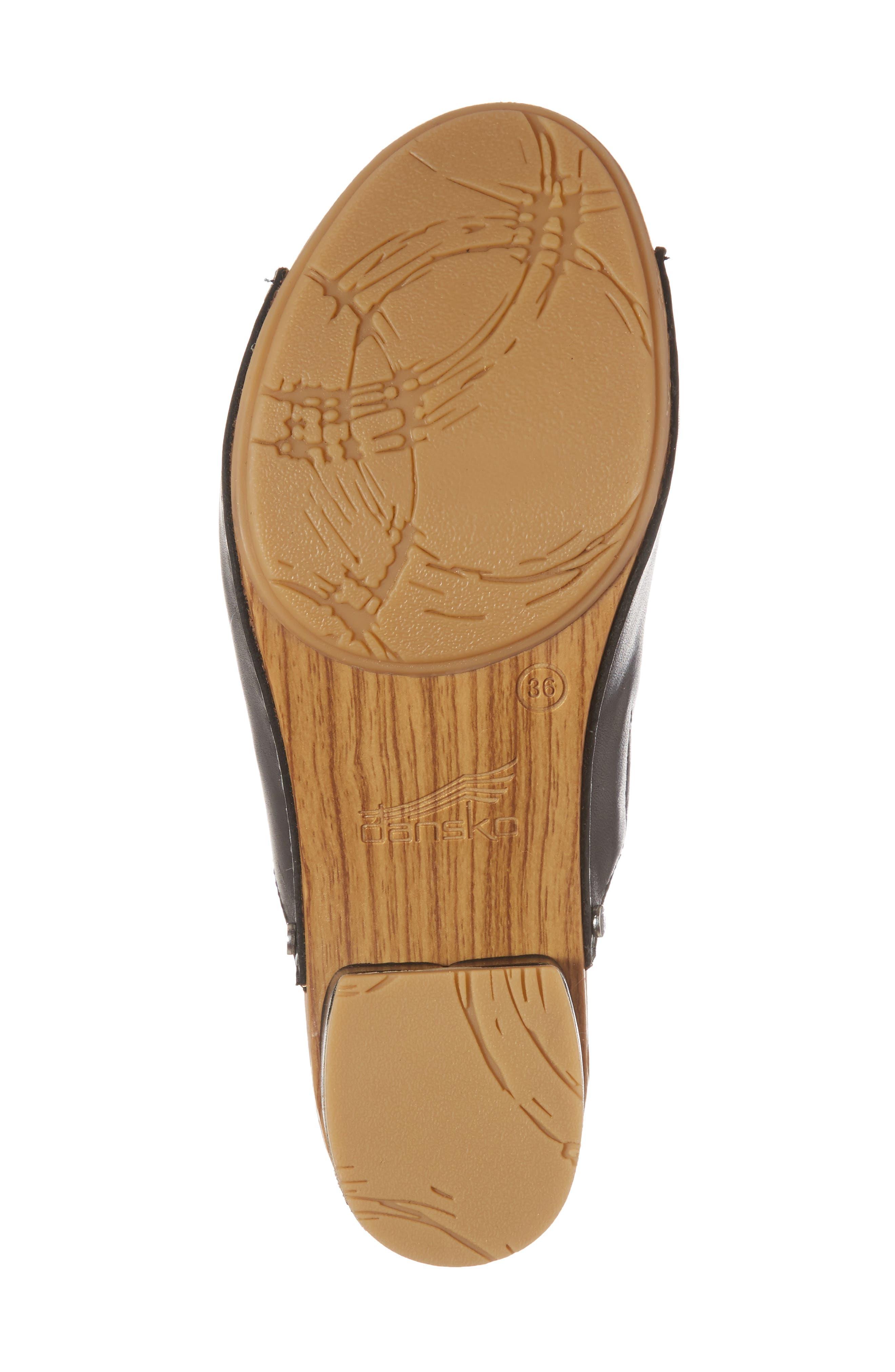 Maci Mule Sandal,                             Alternate thumbnail 6, color,                             BLACK LEATHER