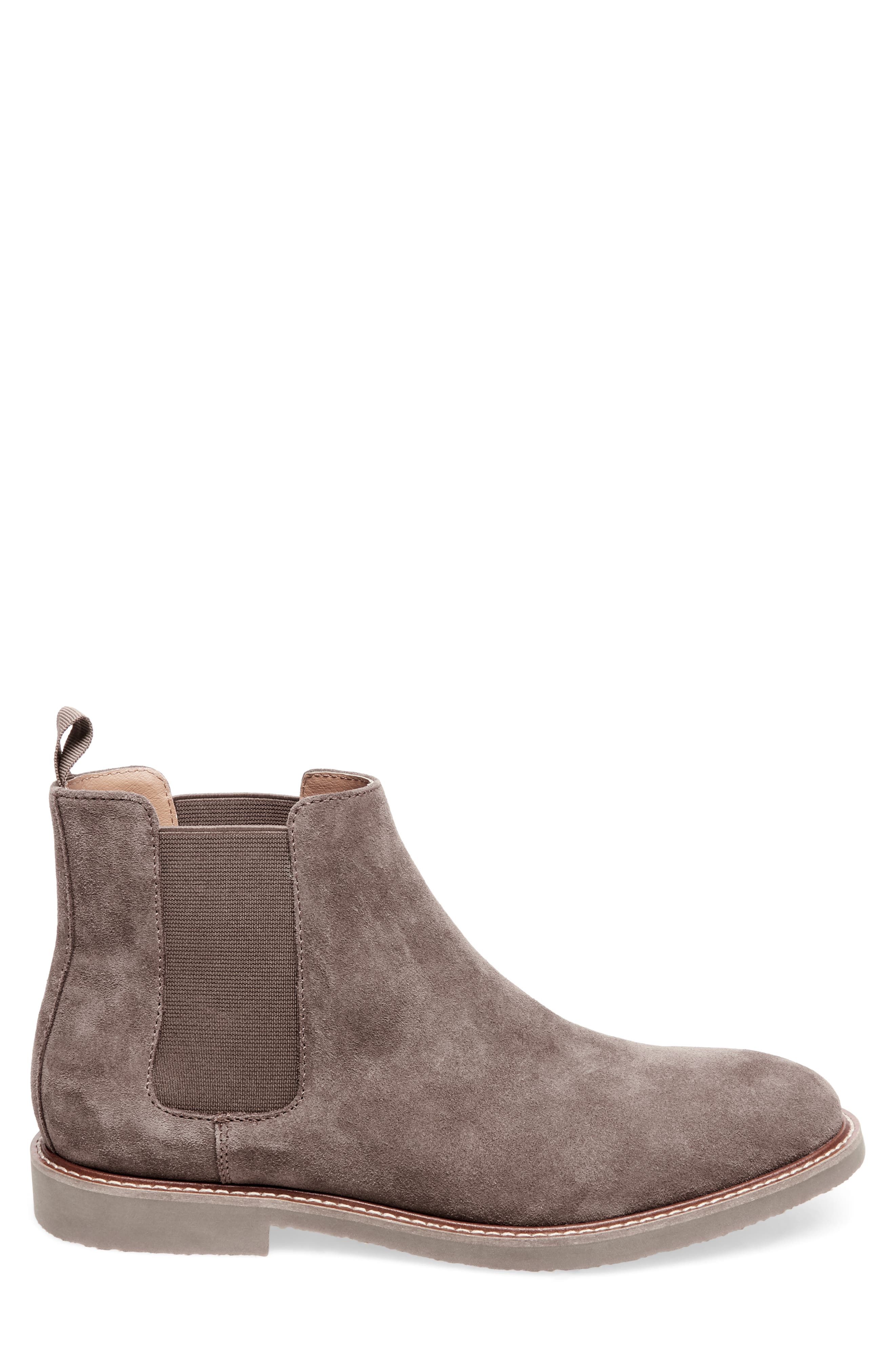 Highline Chelsea Boot,                             Alternate thumbnail 3, color,                             TAUPE SUEDE