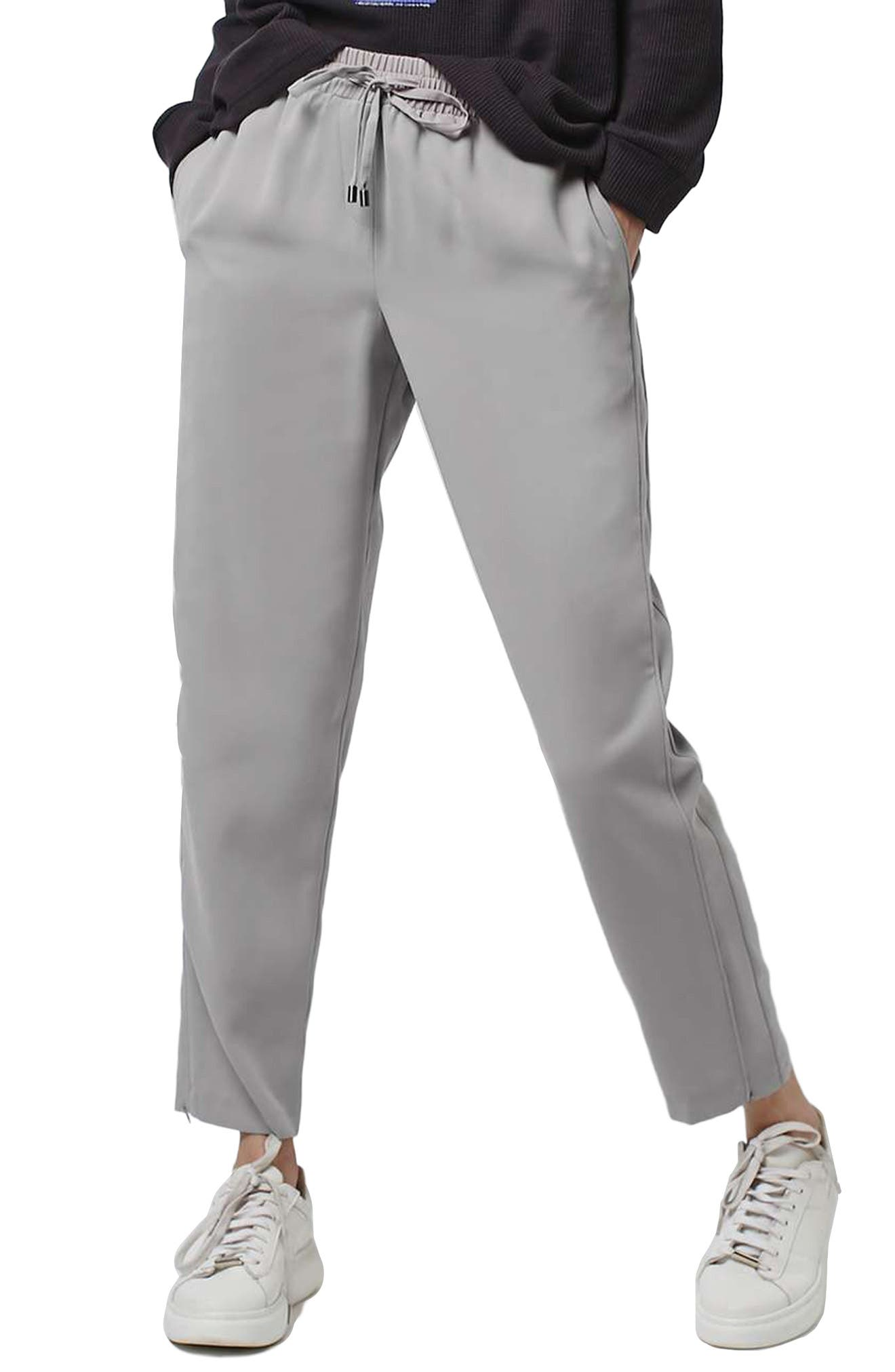Contrast Piped Ankle Zip Jogger Pants,                             Main thumbnail 1, color,                             020