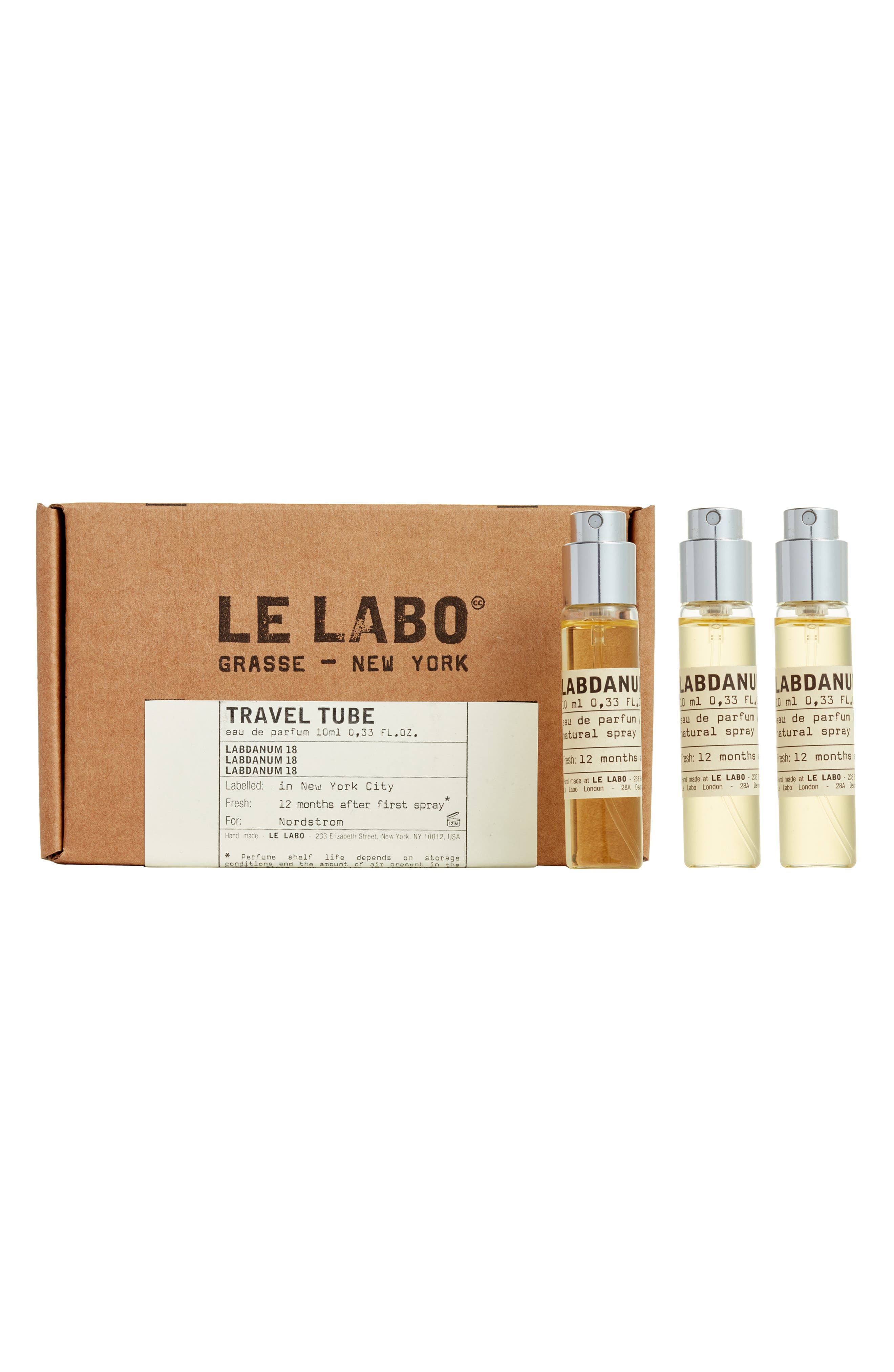 LE LABO,                             'Labdanum 18' Travel Tube Refill,                             Alternate thumbnail 4, color,                             NO COLOR