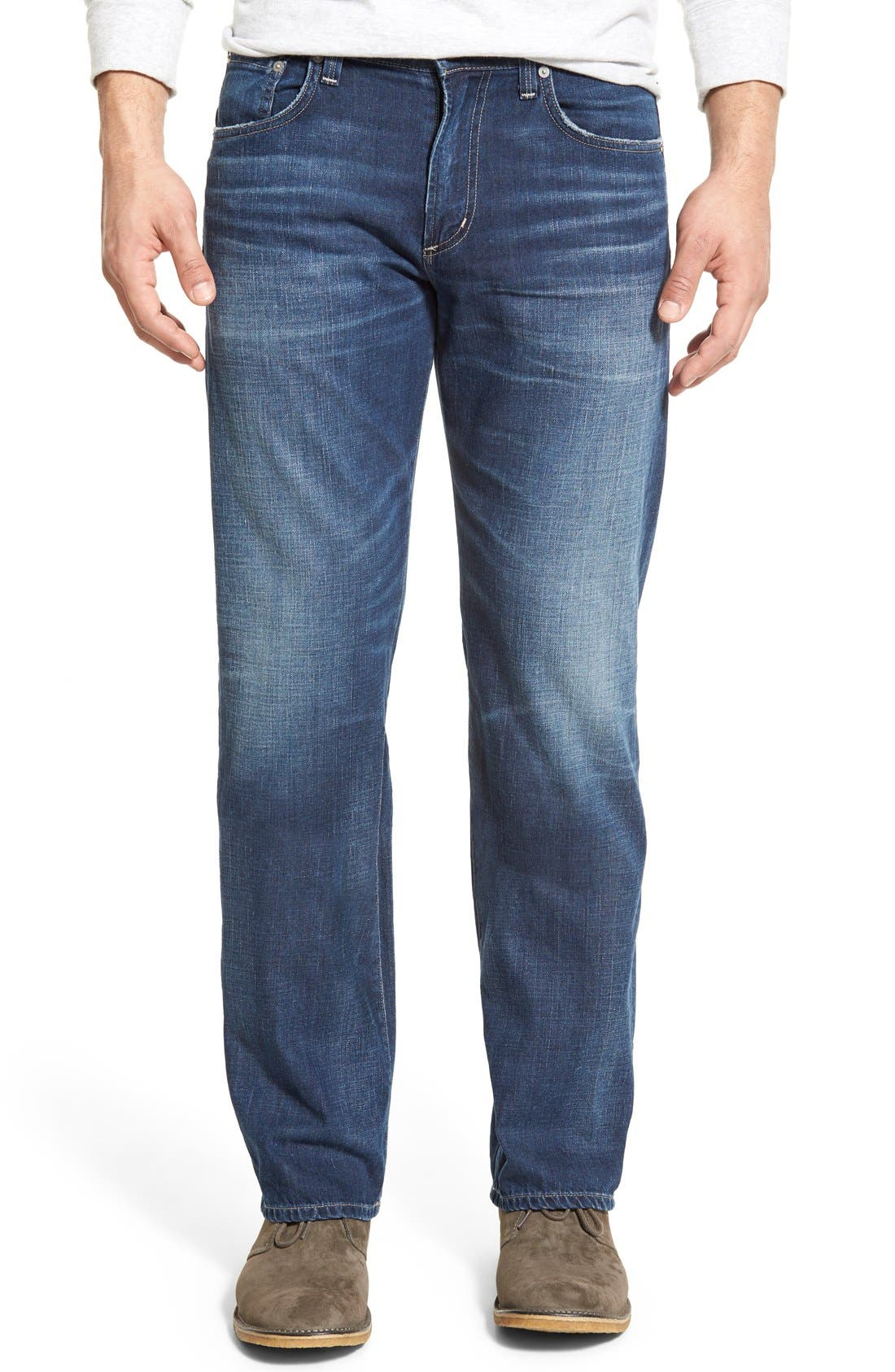 'Evans' Relaxed Fit Jeans,                             Main thumbnail 1, color,                             DERBY