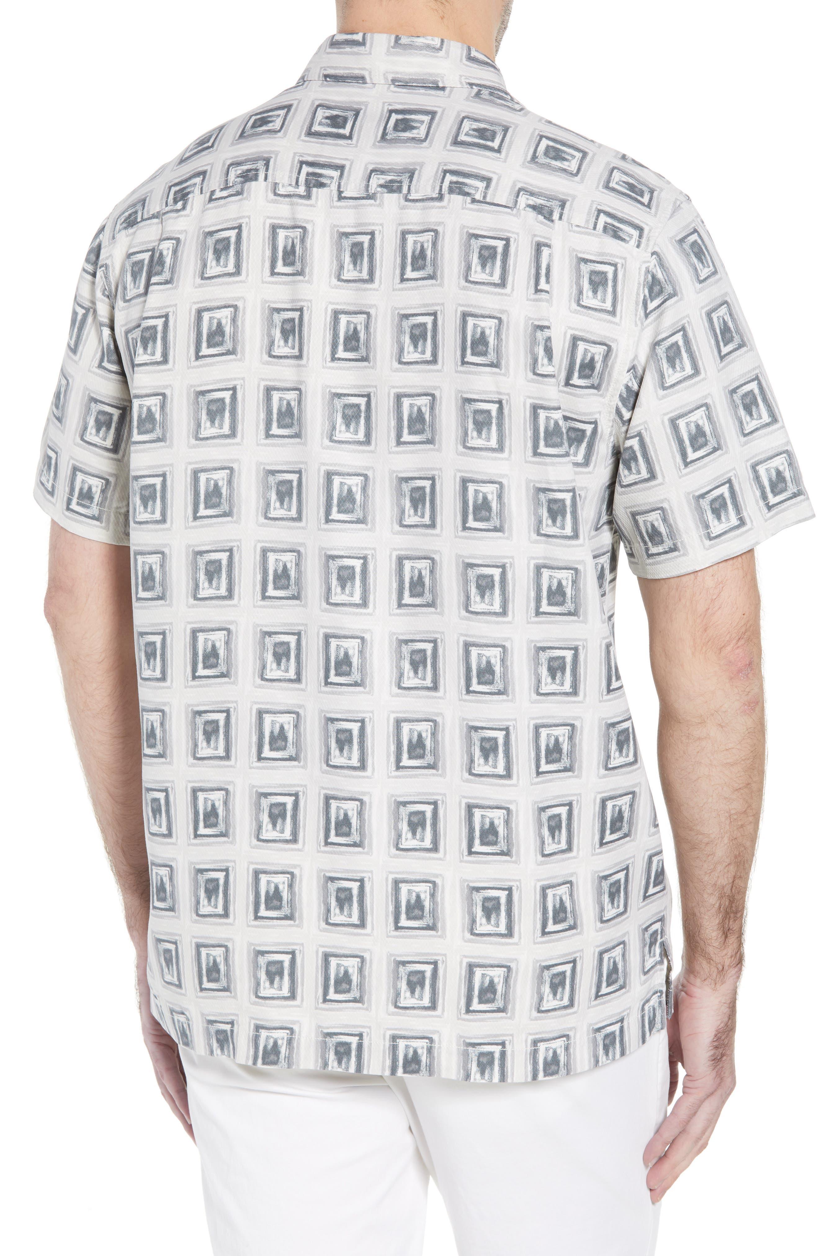 Casa de Quatro Silk Camp Shirt,                             Alternate thumbnail 2, color,                             FOGGY DEW