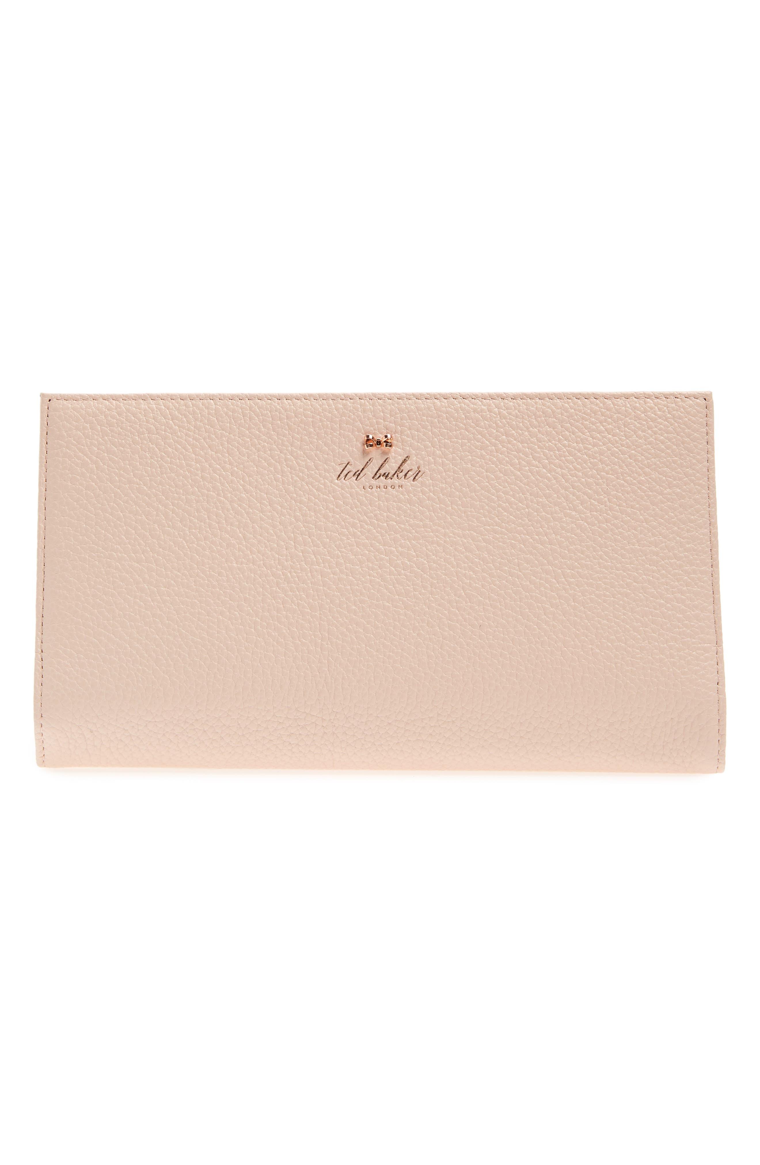 Kayy Metallic Leather Travel Wallet,                             Main thumbnail 2, color,