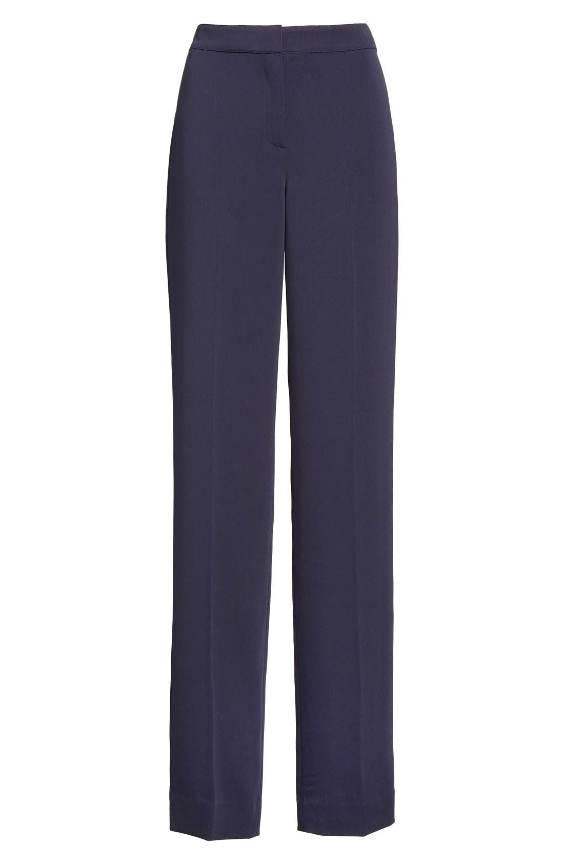 Diana Classic Cady Stretch Pants,                             Alternate thumbnail 7, color,                             NAVY