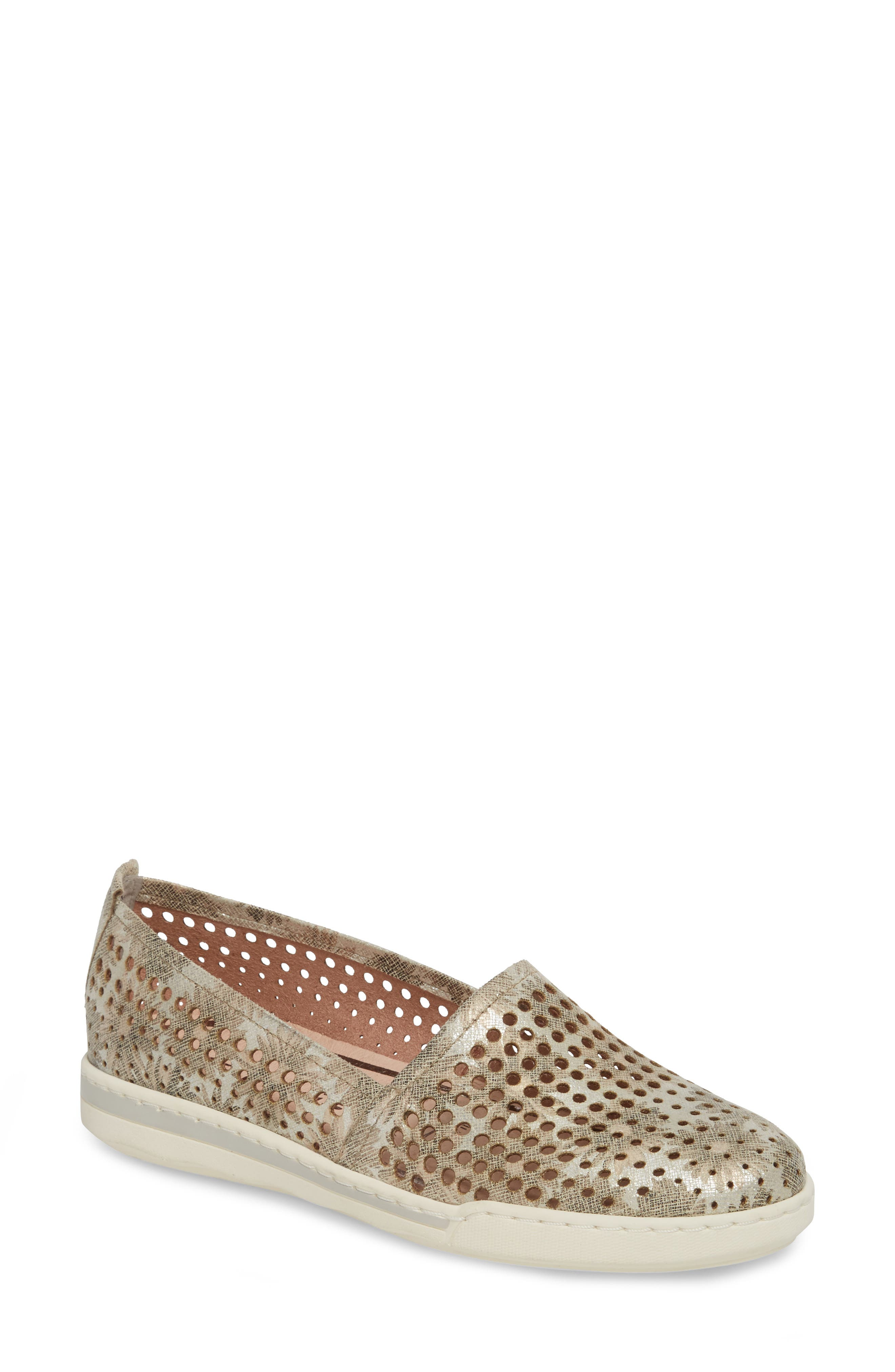 Freya Slip-On Sneaker,                             Main thumbnail 1, color,                             TAUPE FABRIC
