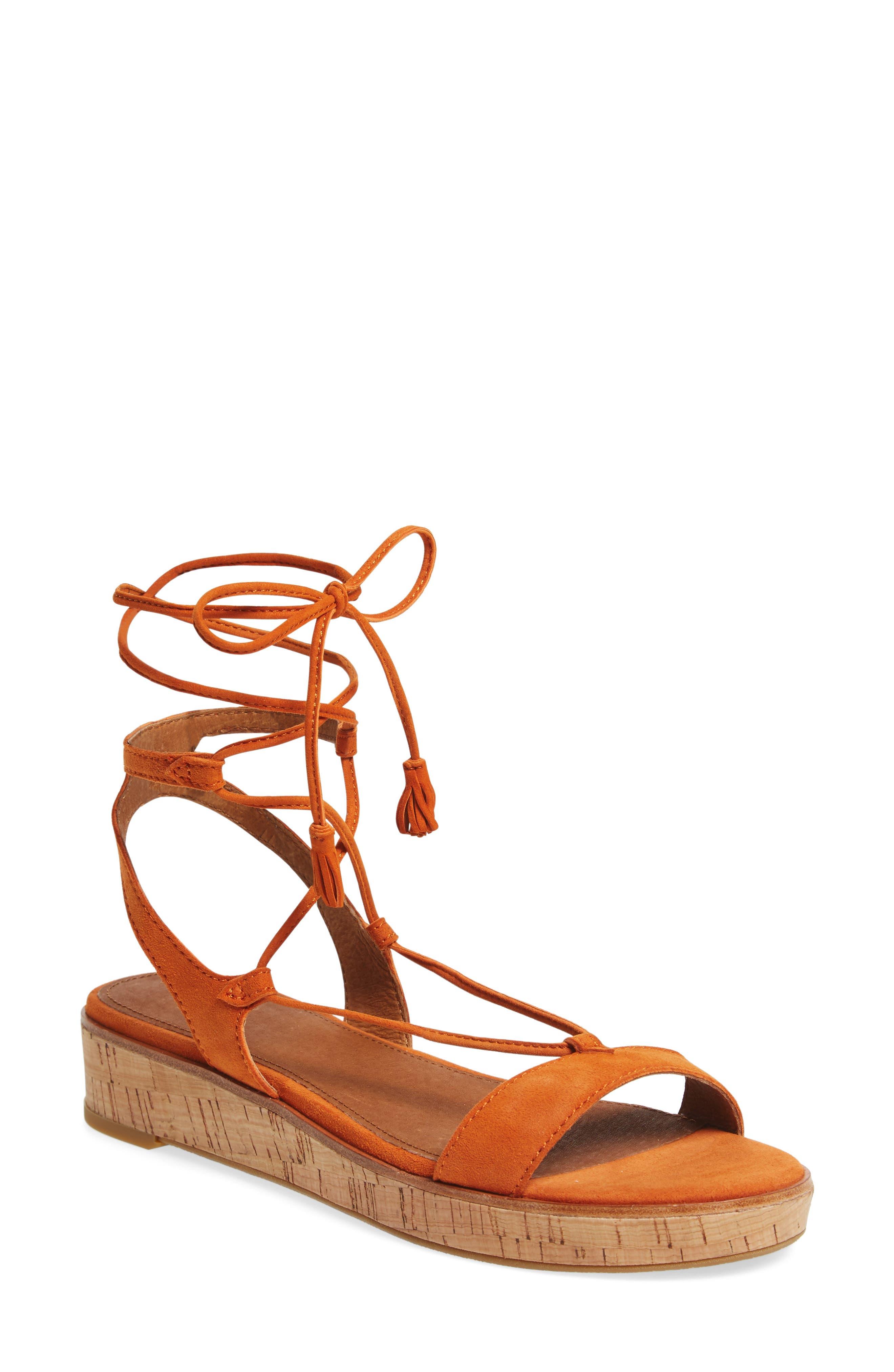 Miranda Gladiator Platform Sandal,                         Main,                         color, ORANGE