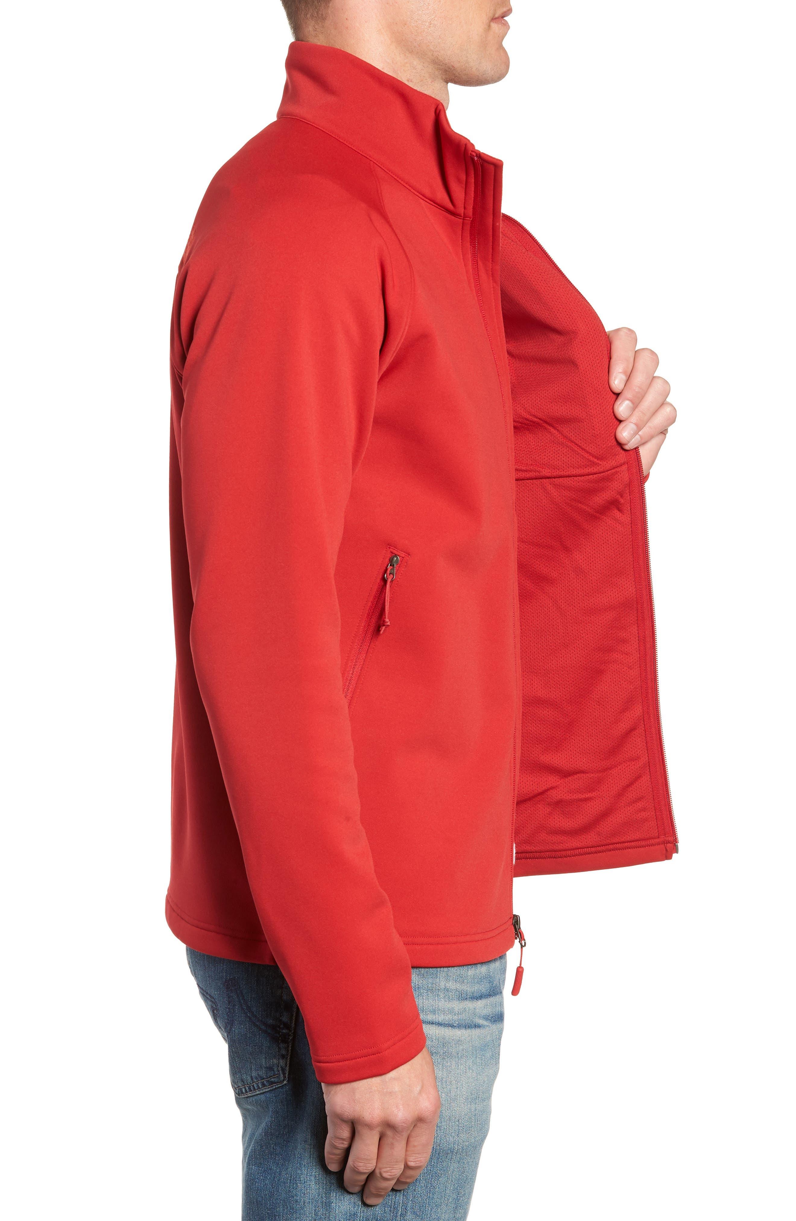 Tenacious Zip Jacket,                             Alternate thumbnail 3, color,                             RAGE RED
