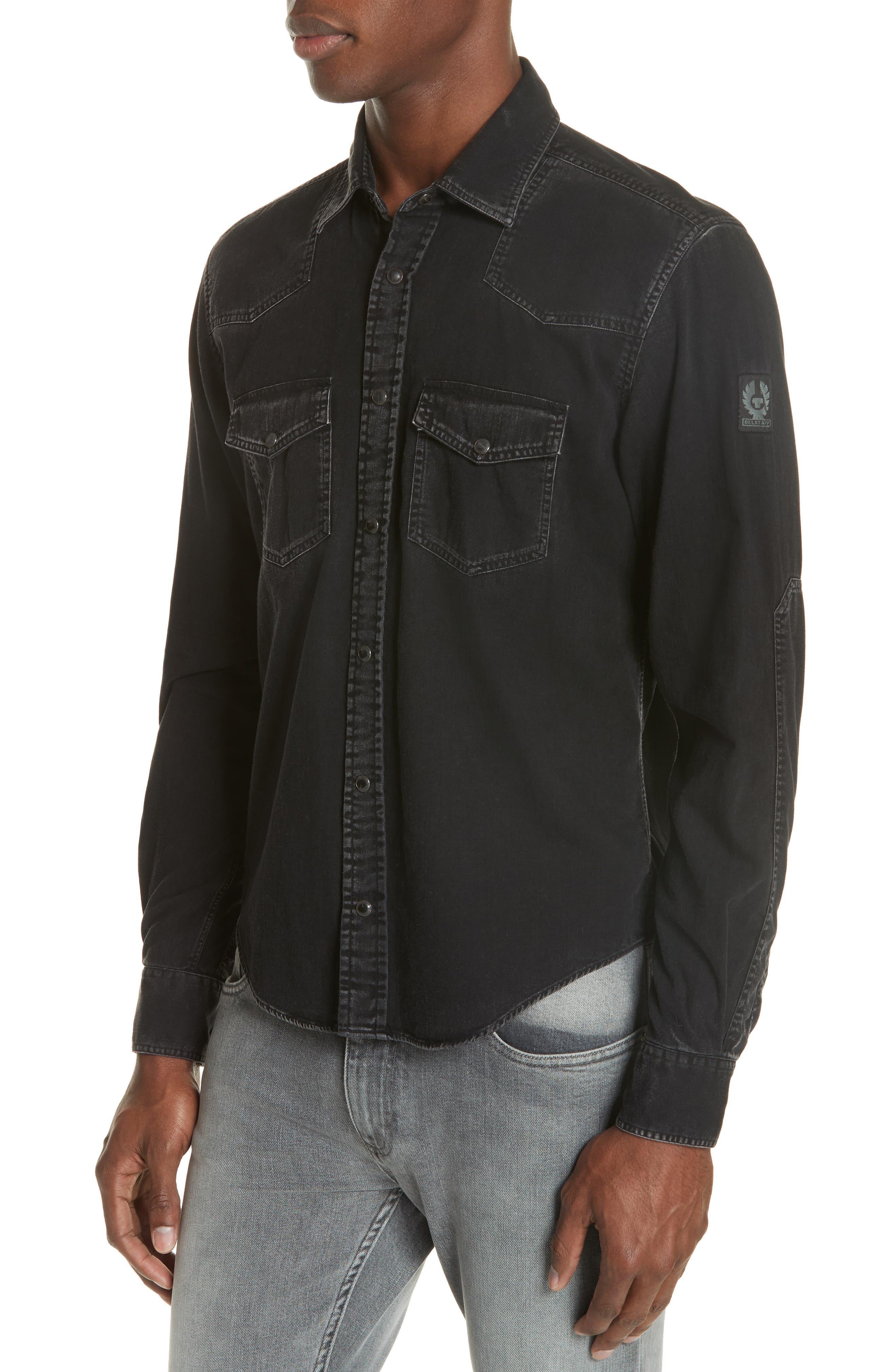 BELSTAFF Somerford Denim Shirt in Black