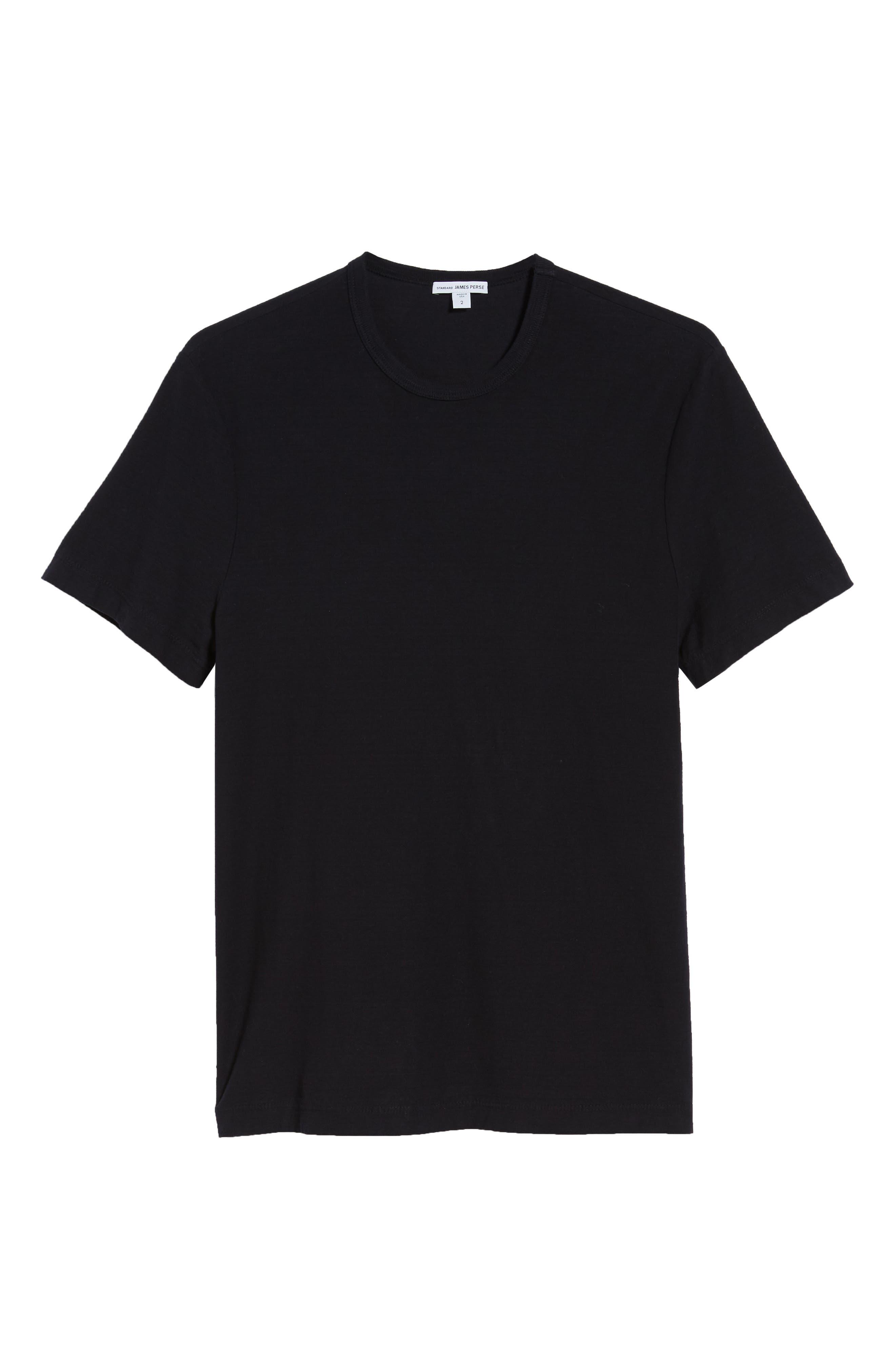 Microstripe Long Sleeve Raglan T-Shirt,                             Alternate thumbnail 6, color,                             CARBON