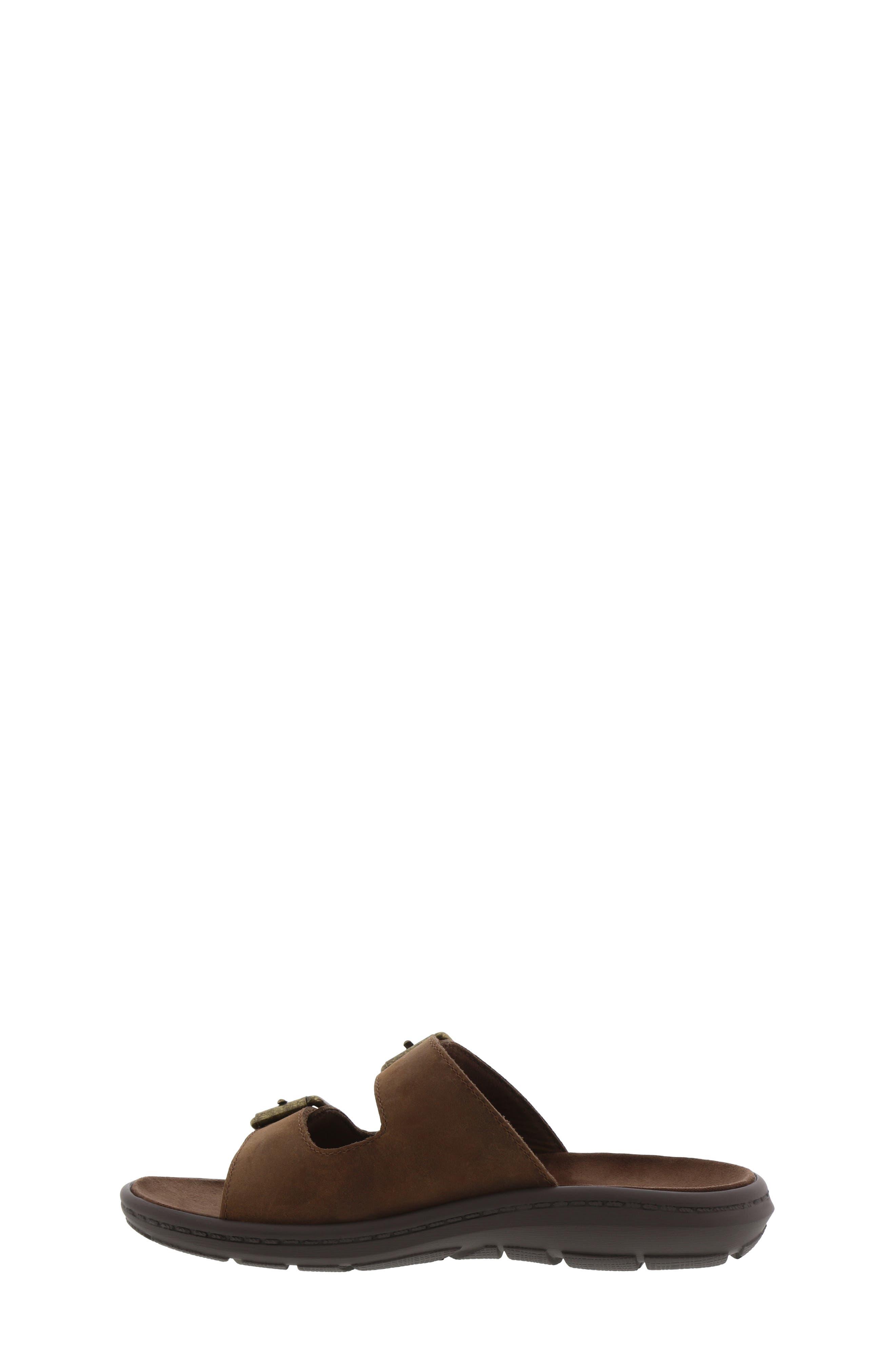 Leaf Leo Slide Sandal,                             Alternate thumbnail 3, color,                             BROWN
