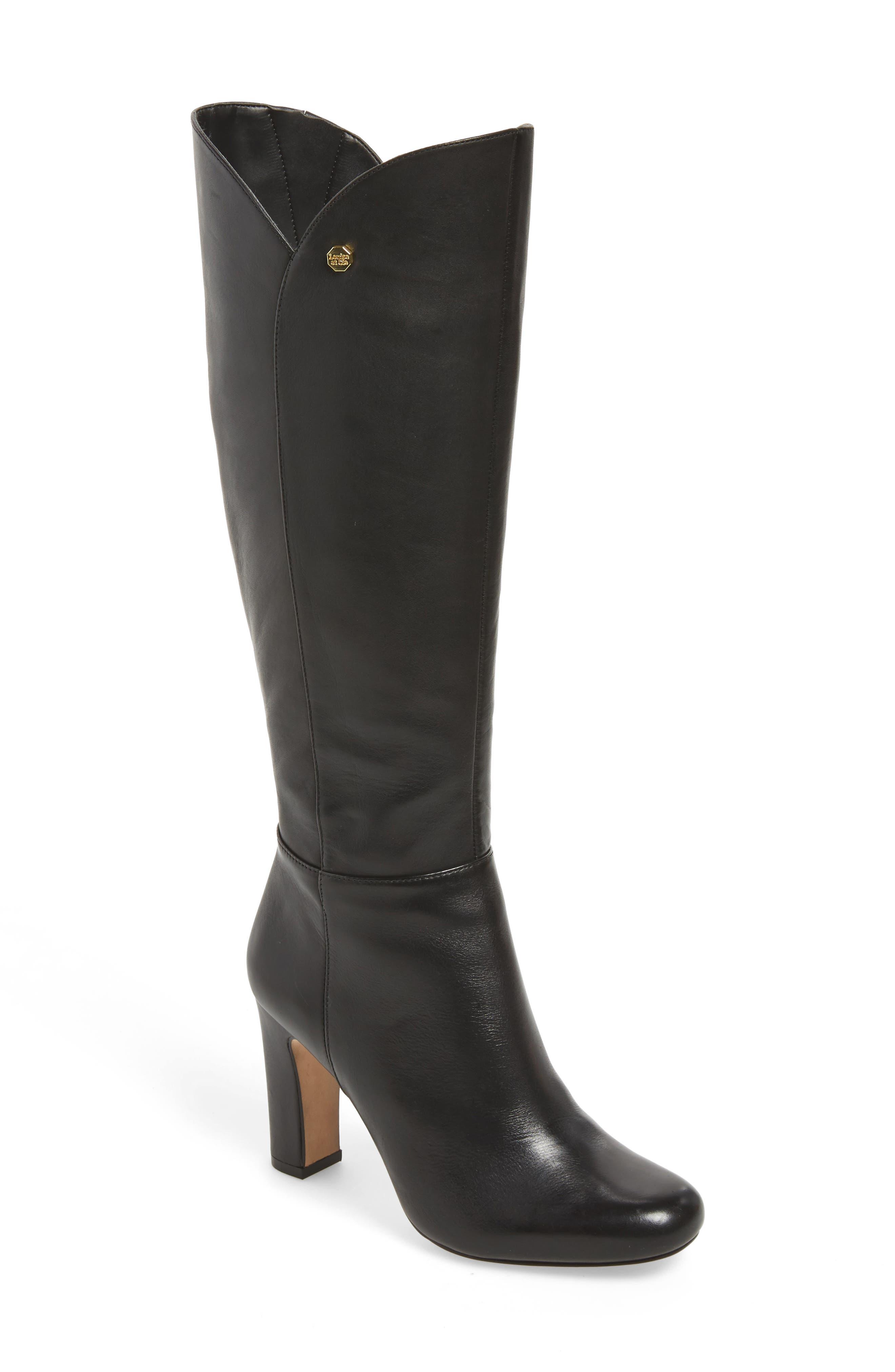 Zanda Boot,                         Main,                         color, BLACK LEATHER