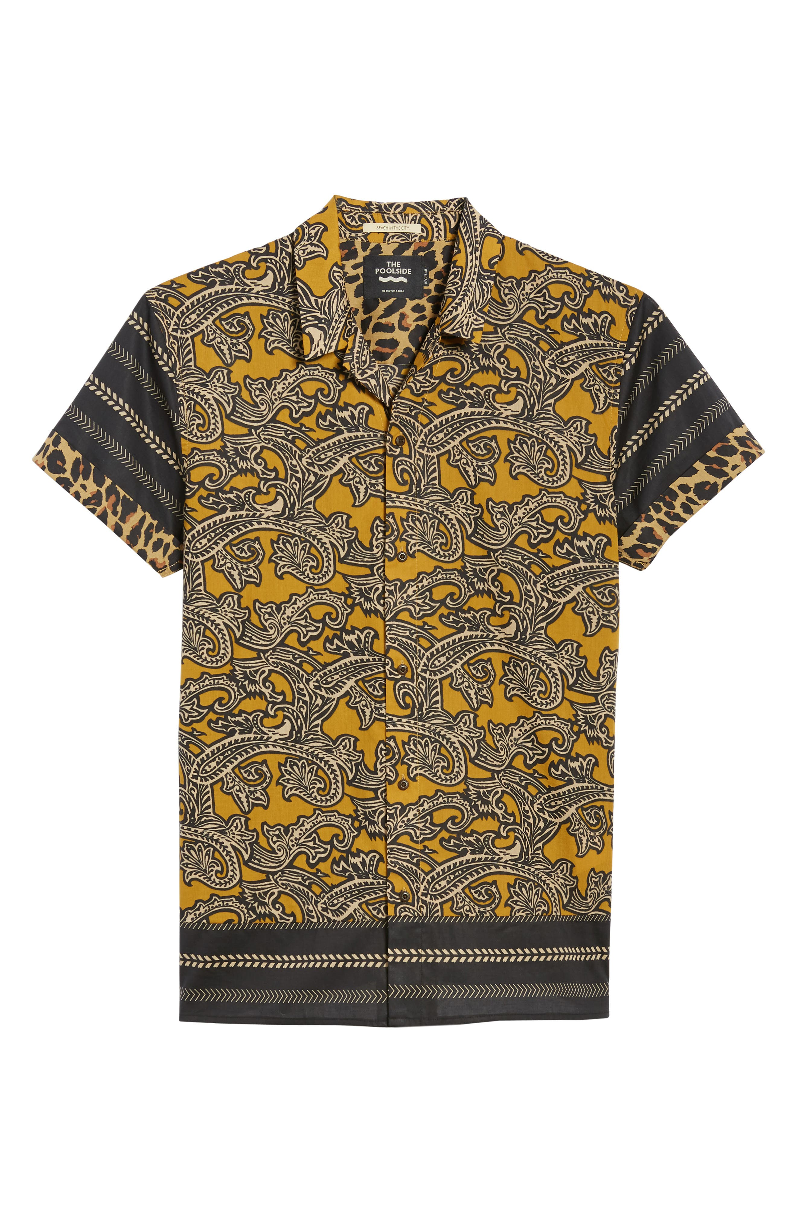 Woven Print Shirt,                             Alternate thumbnail 6, color,                             800
