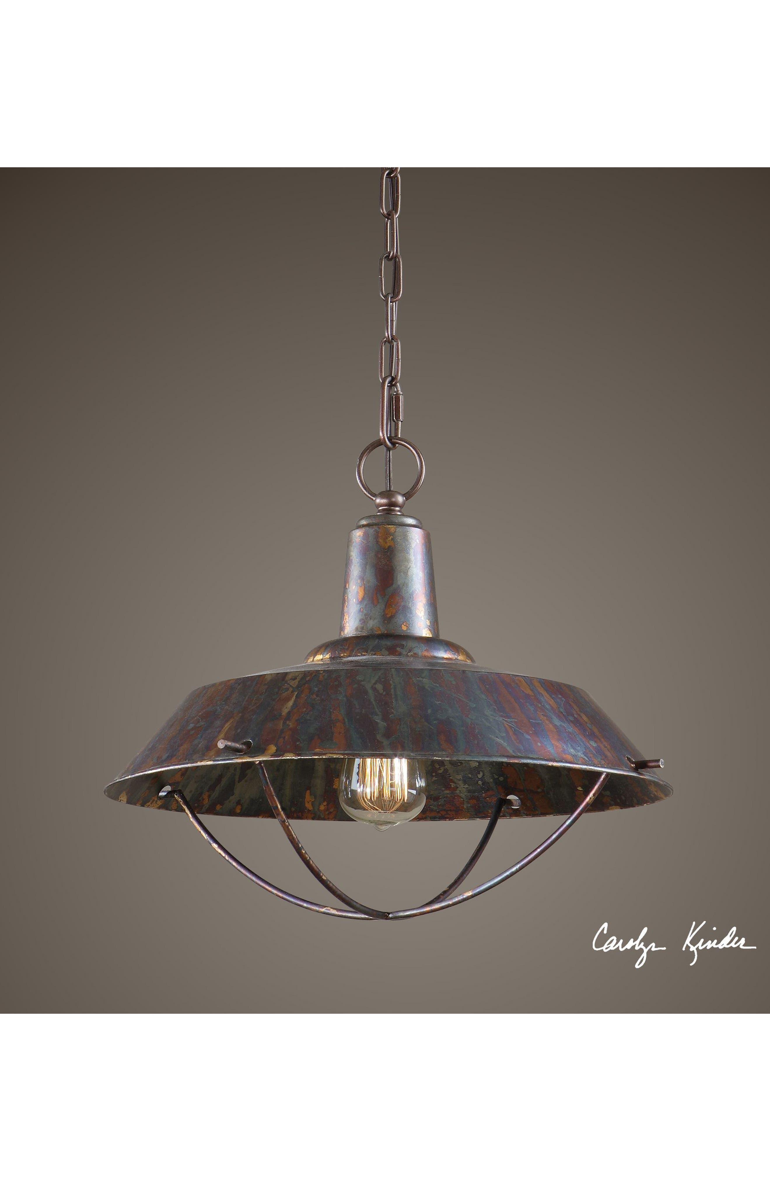'Arcada' Bronzed Pendant Light,                             Alternate thumbnail 4, color,                             220