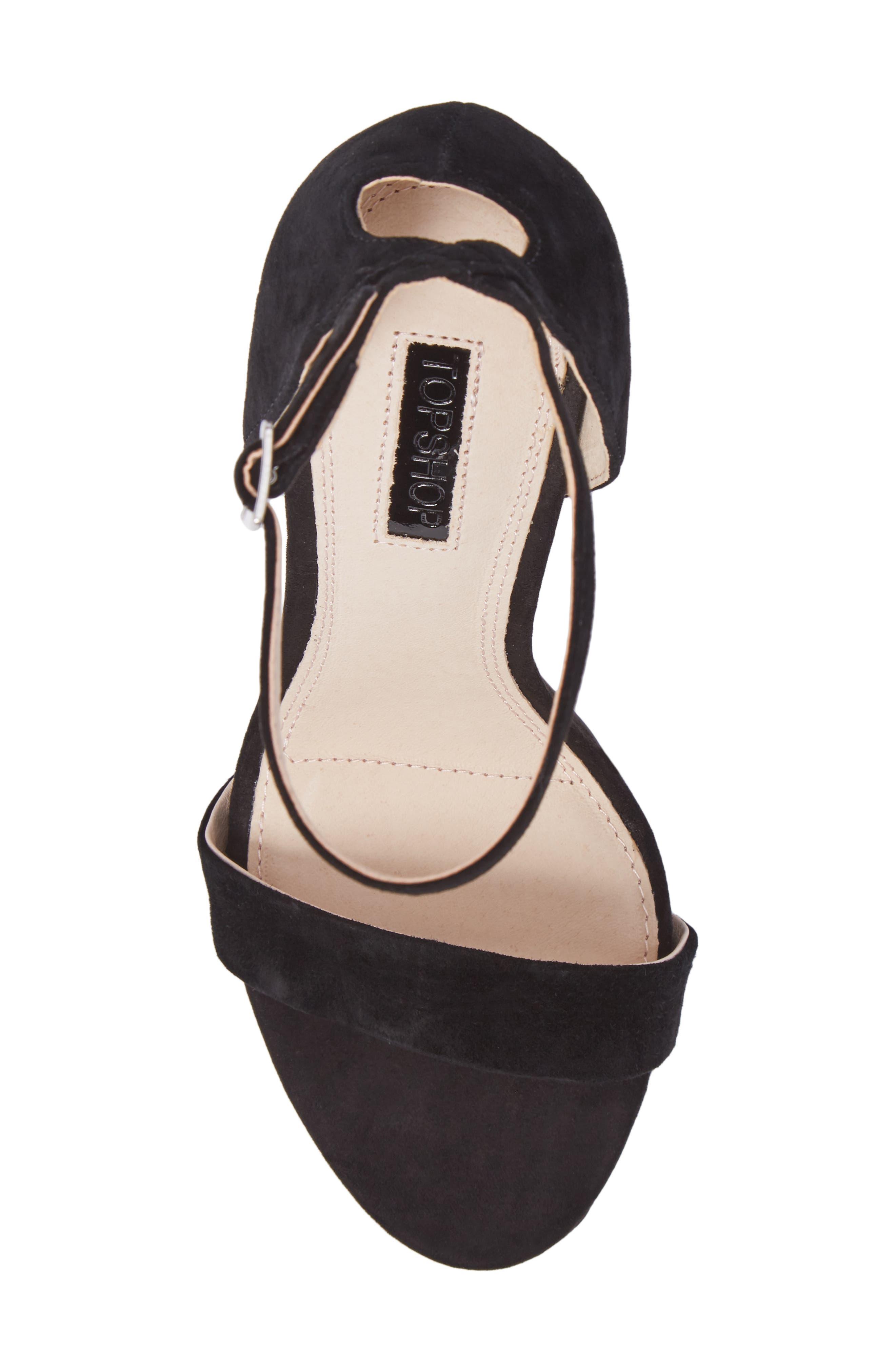 Raphie Ankle Strap Sandal,                             Alternate thumbnail 5, color,                             001