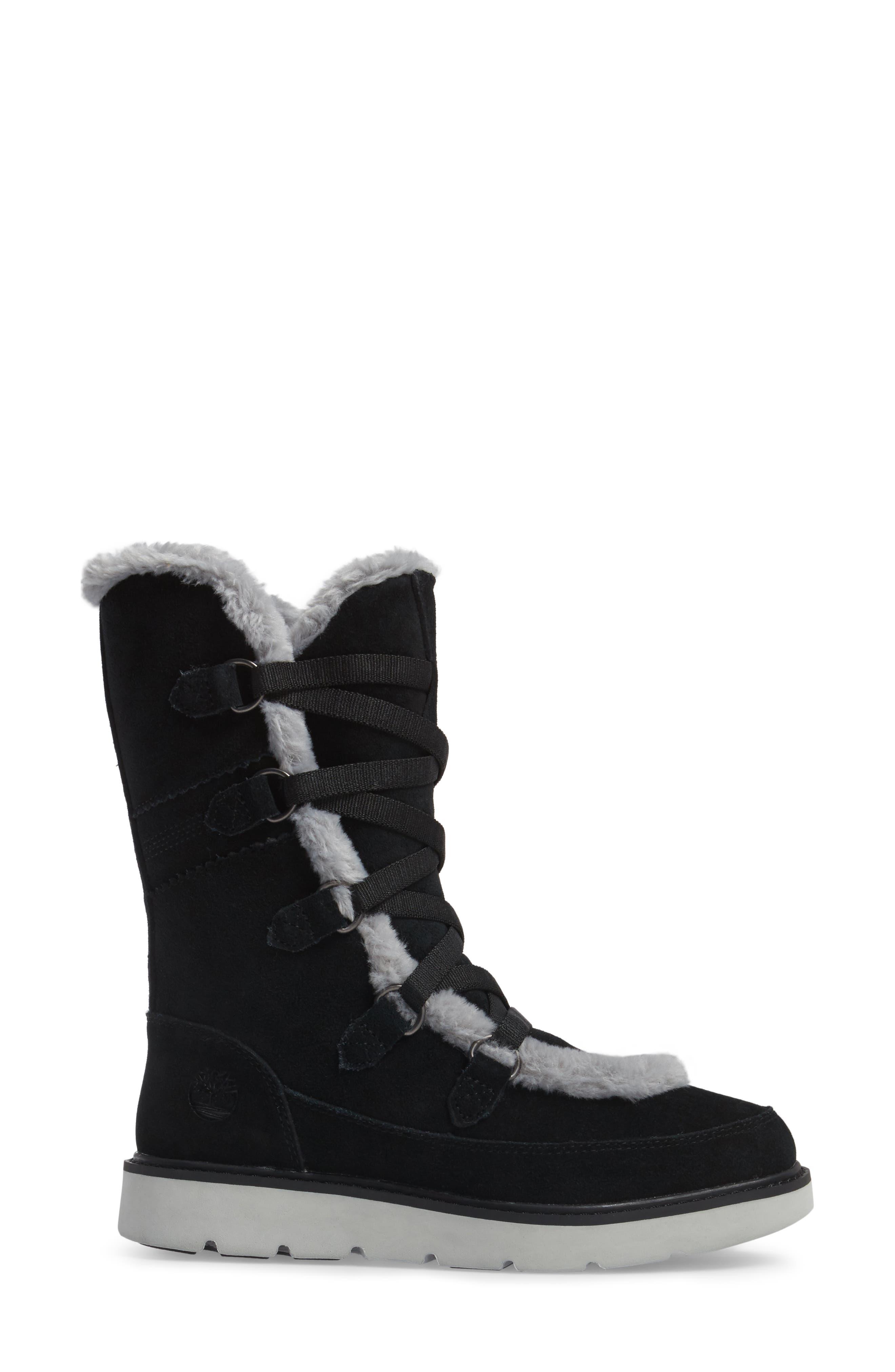 Kenniston Faux Fur Water Resistant Mukluk Boot,                             Alternate thumbnail 3, color,                             001