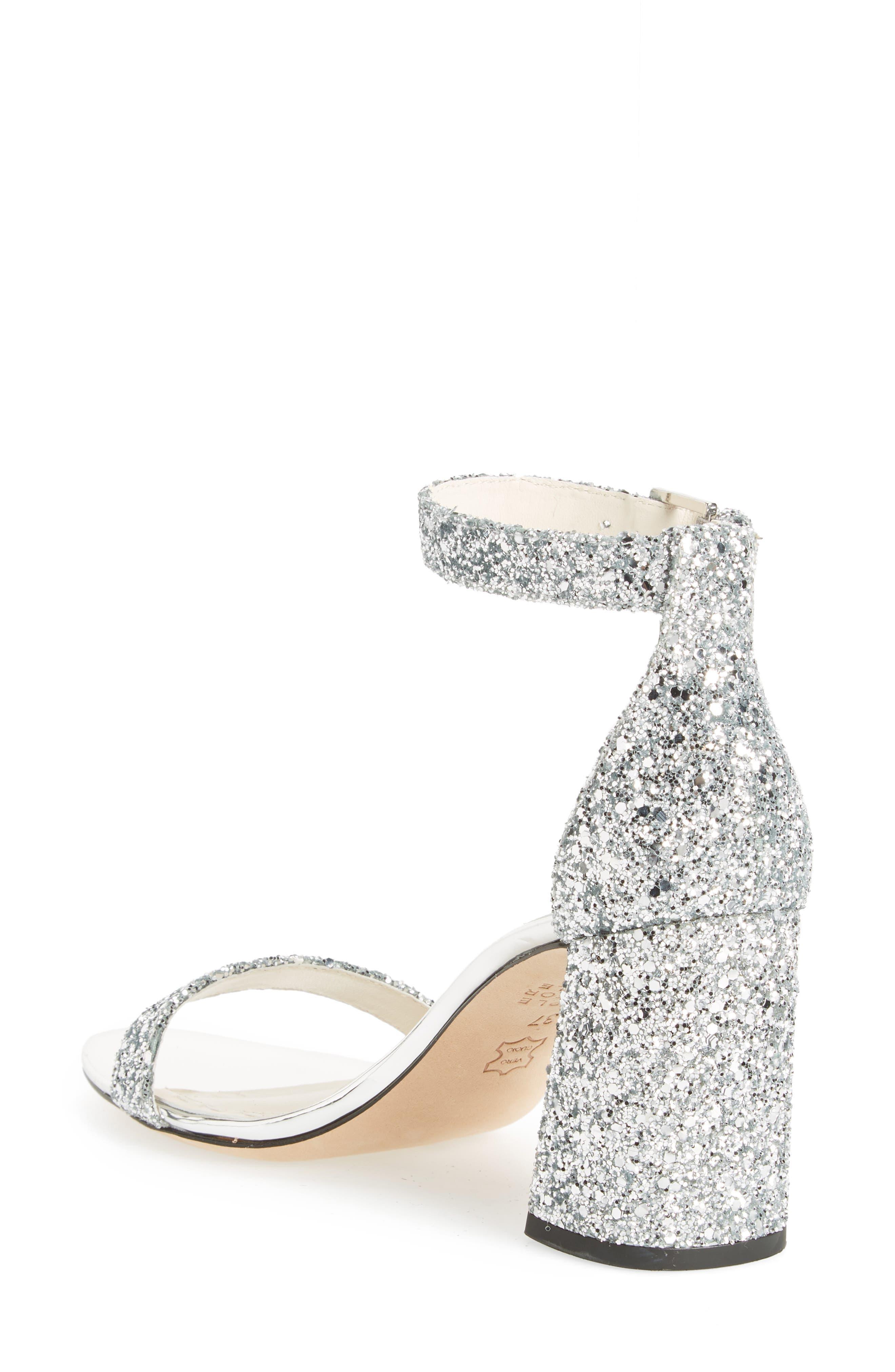 Lillian Glitter Ankle Strap Sandal,                             Alternate thumbnail 2, color,                             020
