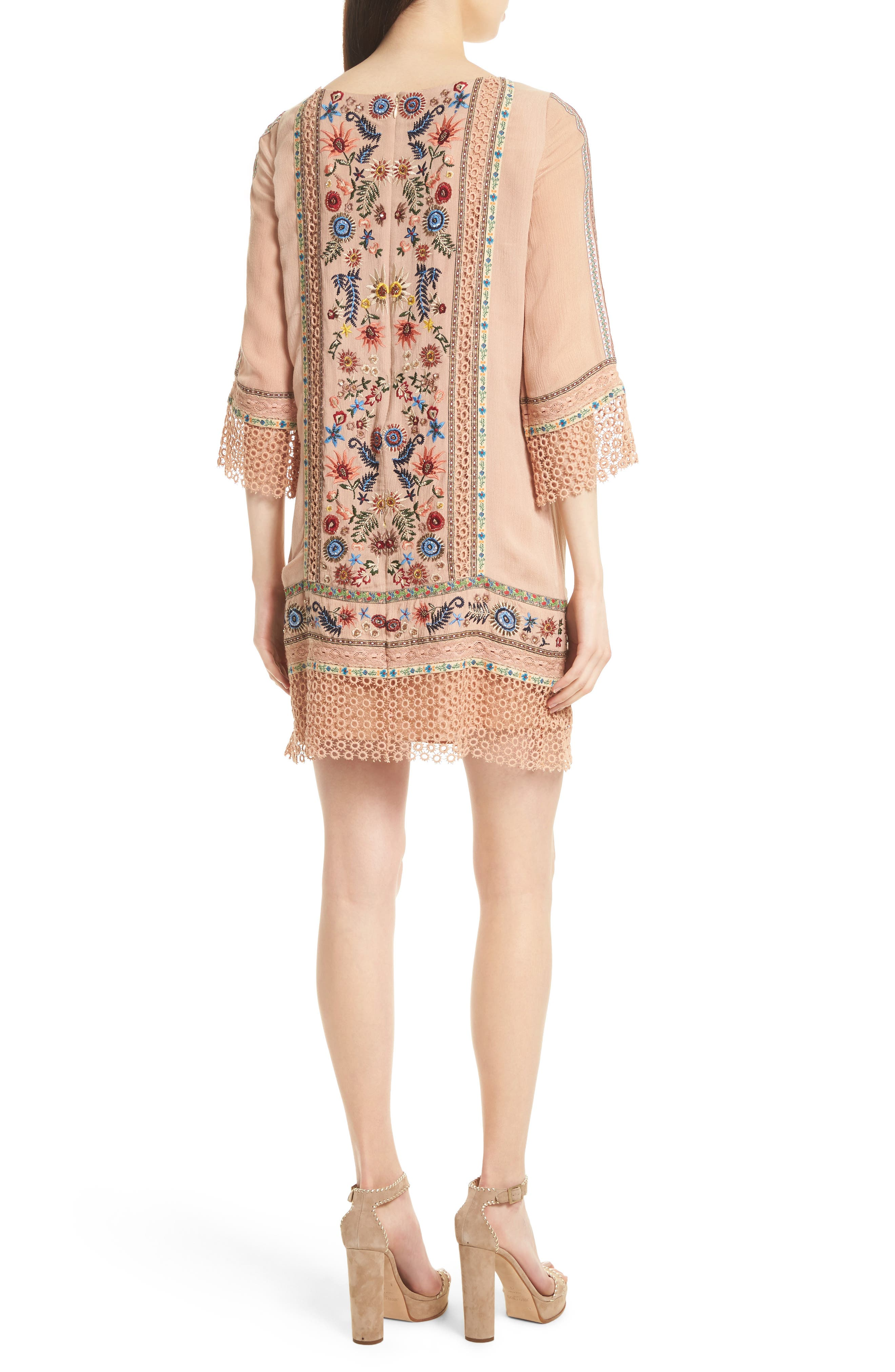 Gabriel Embroidered Tunic Dress,                             Alternate thumbnail 2, color,                             260
